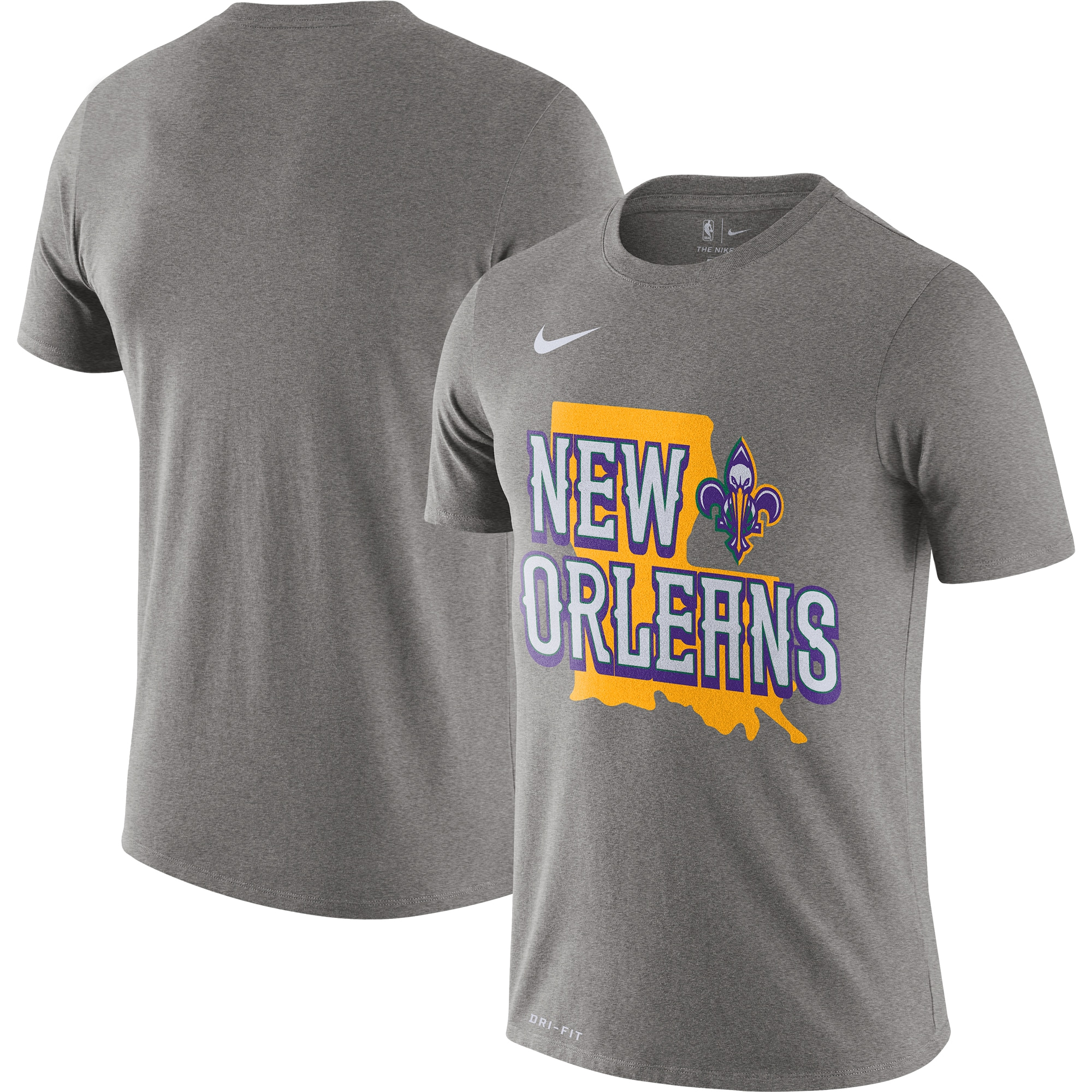 New Orleans Pelicans Nike 2019/20 City Edition Hometown Performance T-Shirt - Heather Gray