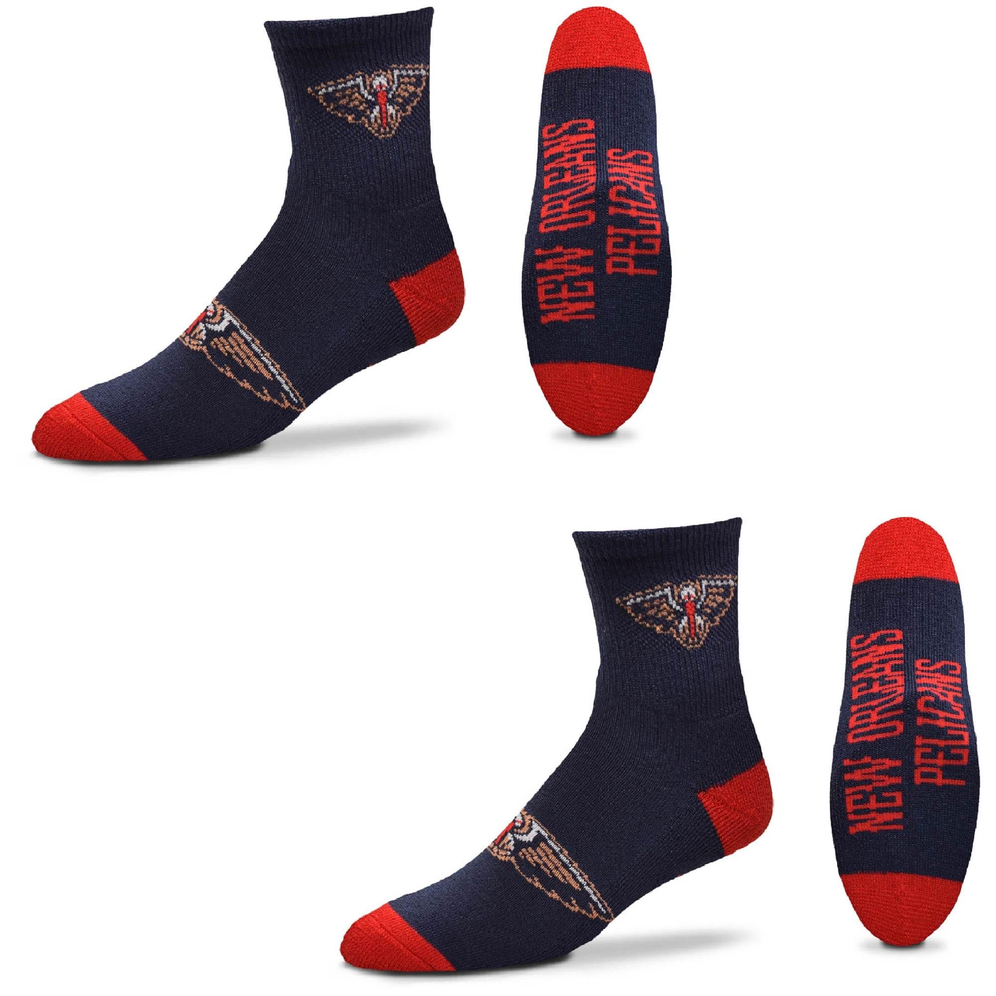 New Orleans Pelicans Women's Quarter-Length Socks Two-Pack Set