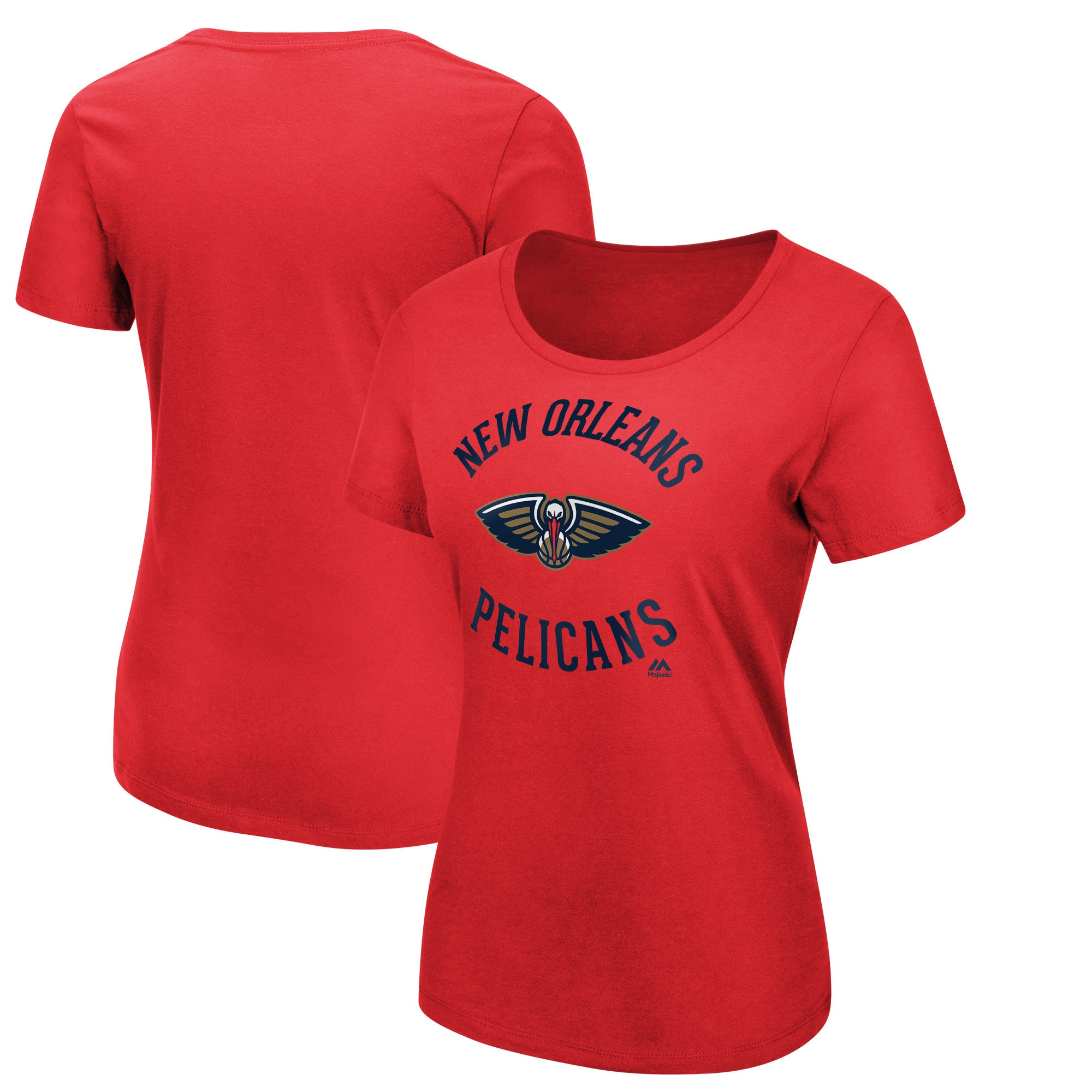 New Orleans Pelicans Majestic Women's The Main Thing T-Shirt - Red