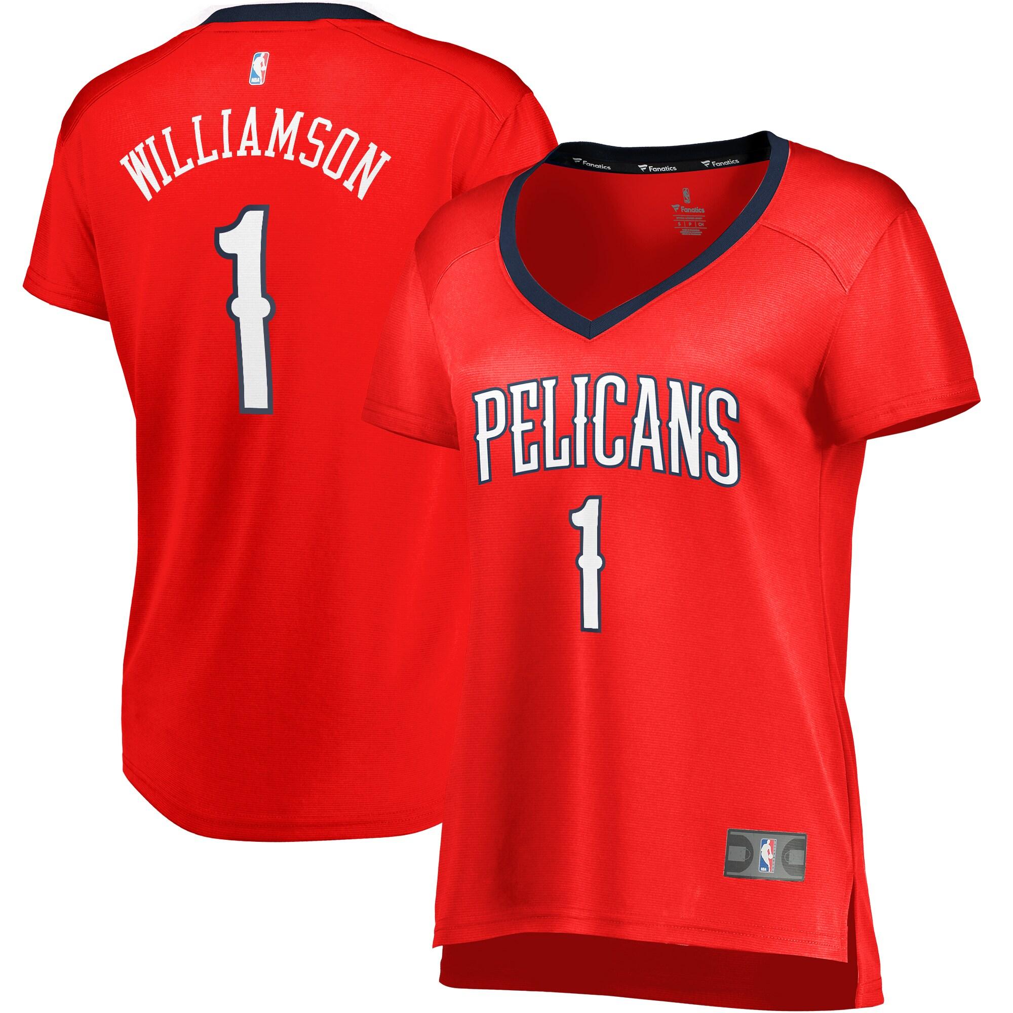 Zion Williamson New Orleans Pelicans Fanatics Branded Women's Fast Break Replica Jersey - Statement Edition - Red