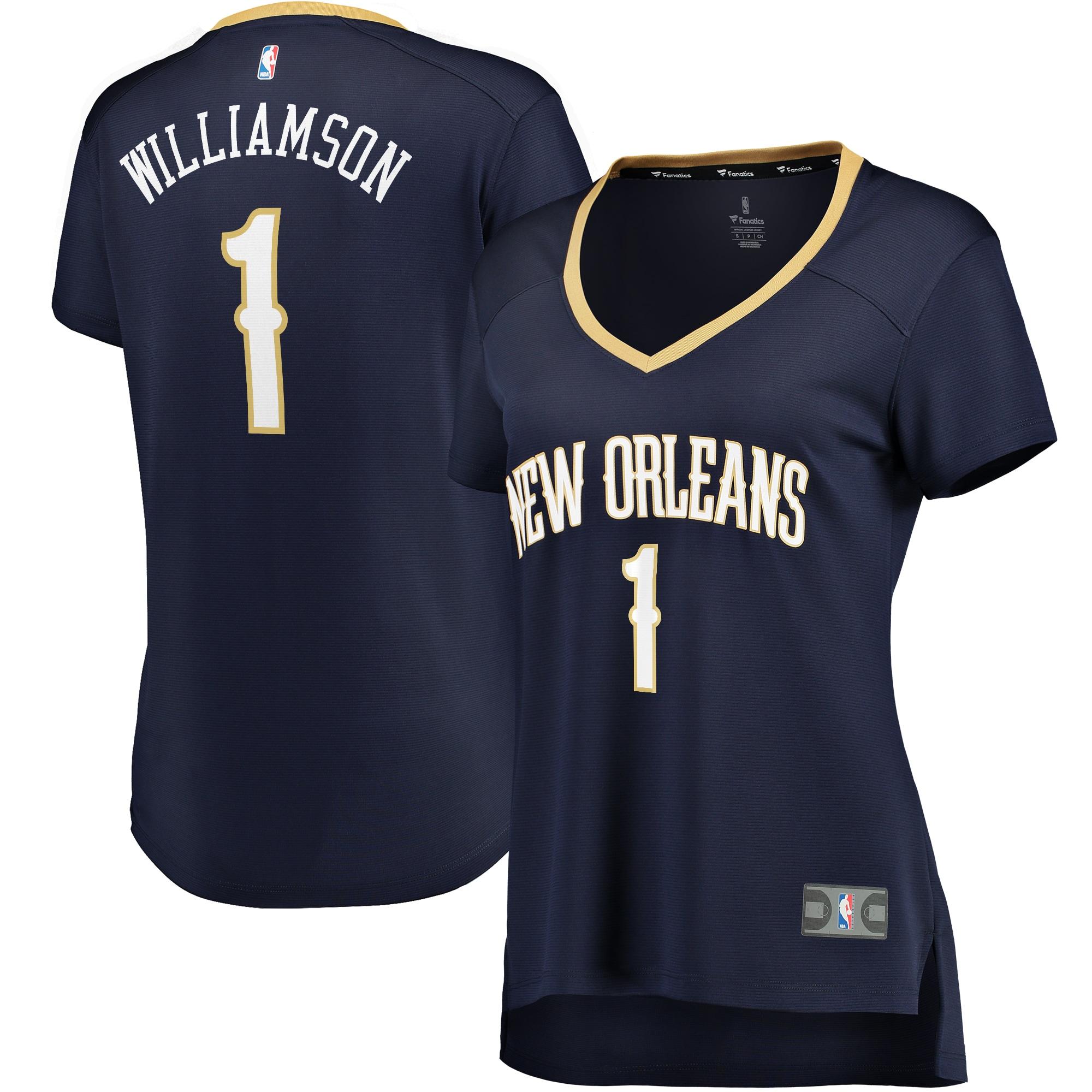 Zion Williamson New Orleans Pelicans Fanatics Branded Women's Fast Break Replica Jersey - Icon Edition - Navy