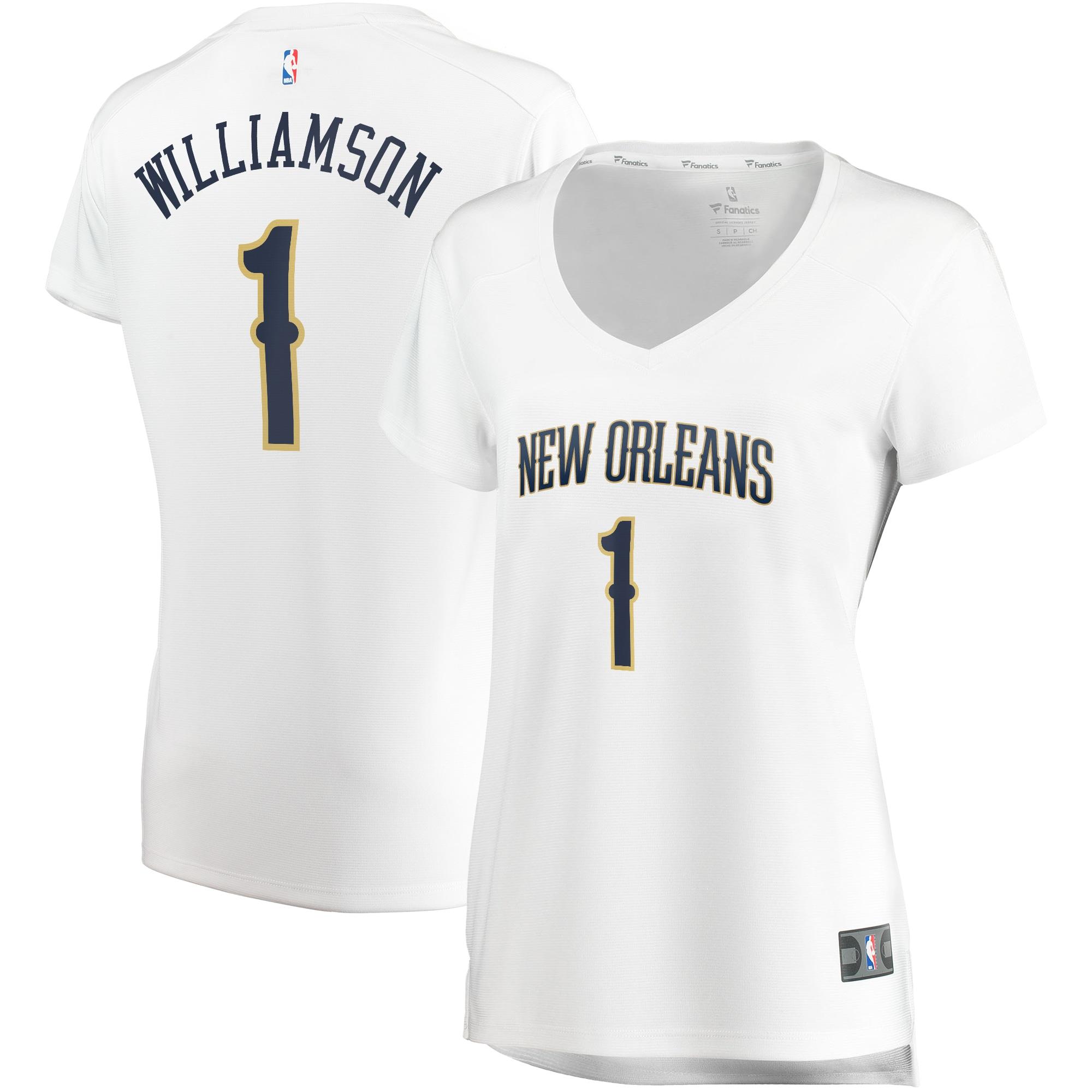 Zion Williamson New Orleans Pelicans Fanatics Branded Women's Fast Break Replica Jersey - Association Edition - White