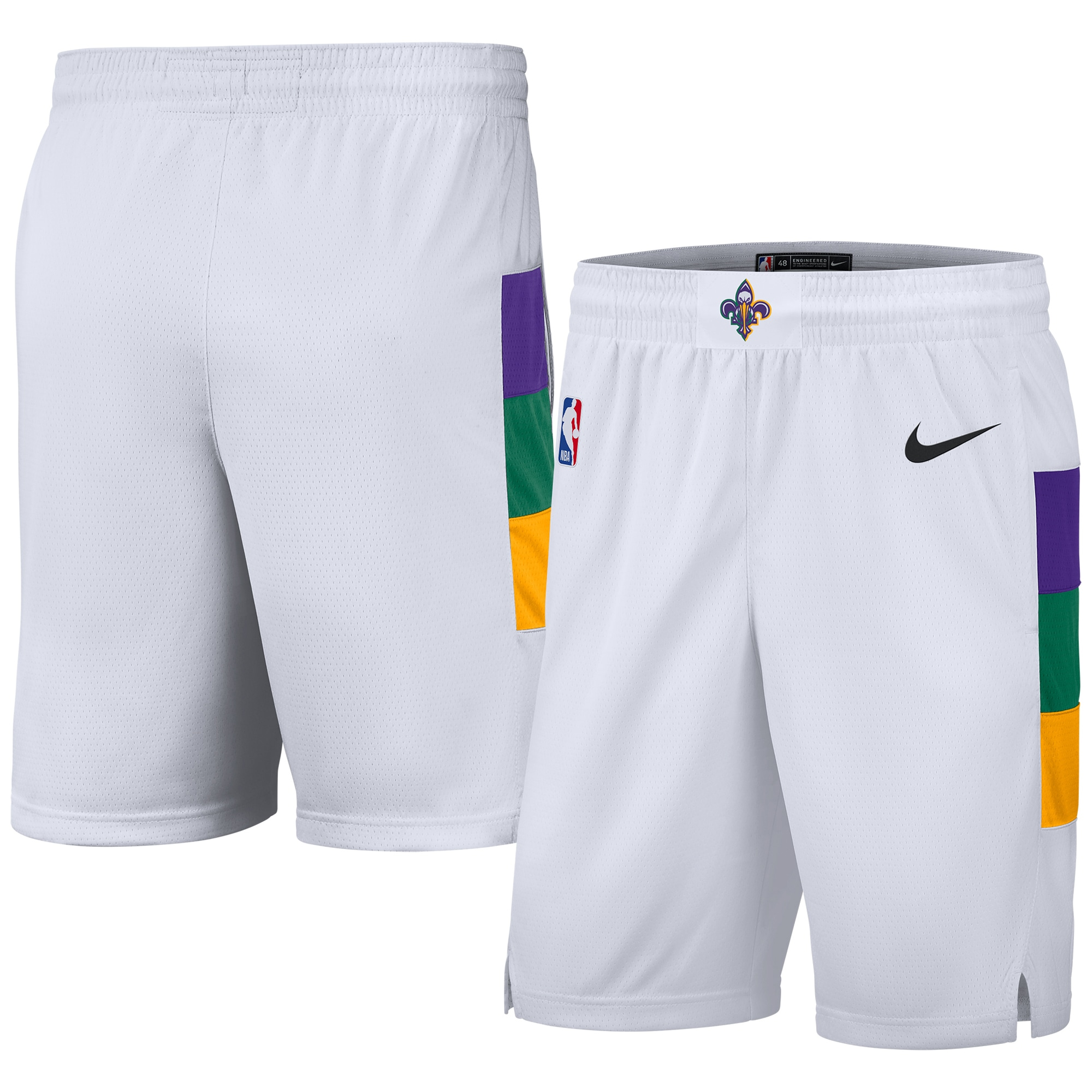 New Orleans Pelicans Nike Youth 2019/20 City Edition Swingman Shorts - White