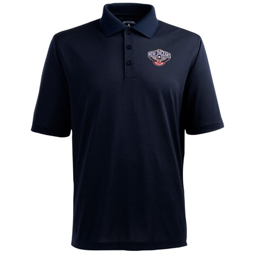 Antigua New Orleans Pelicans Pique Xtra-Lite Performance Polo - Navy Blue