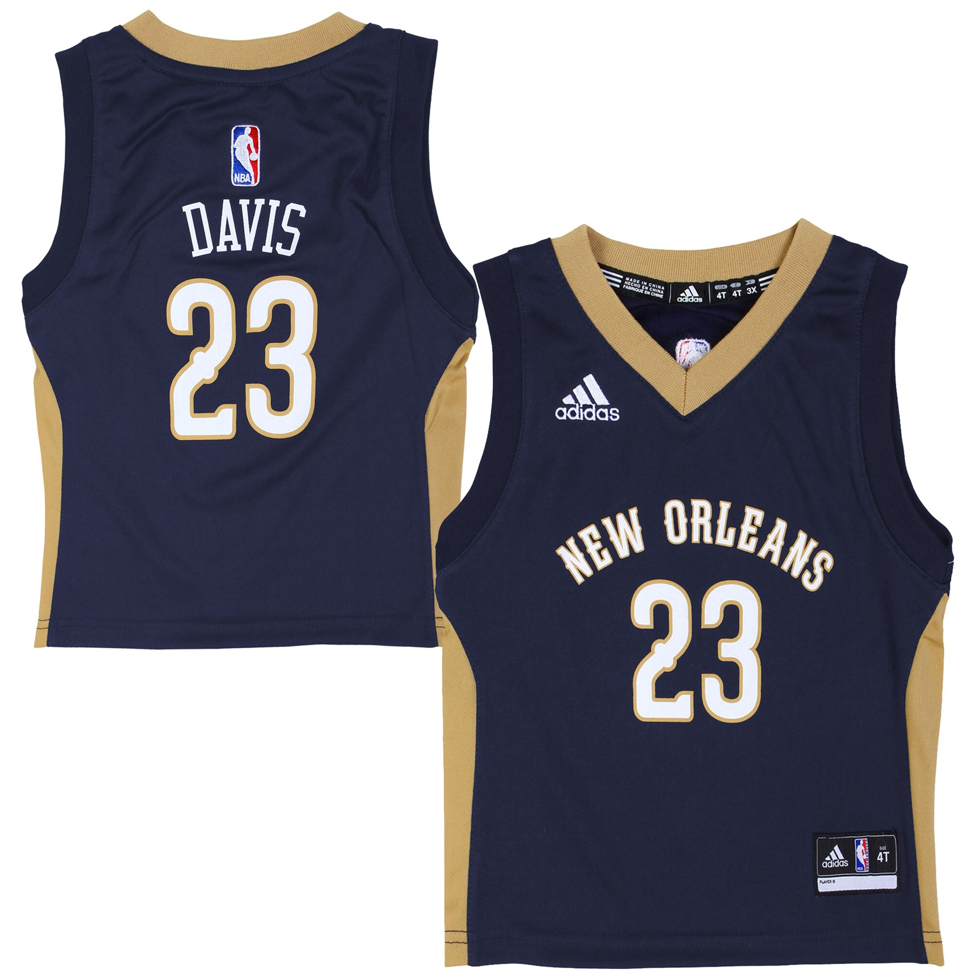 Anthony Davis New Orleans Pelicans adidas Preschool Replica Road Jersey - Navy Blue