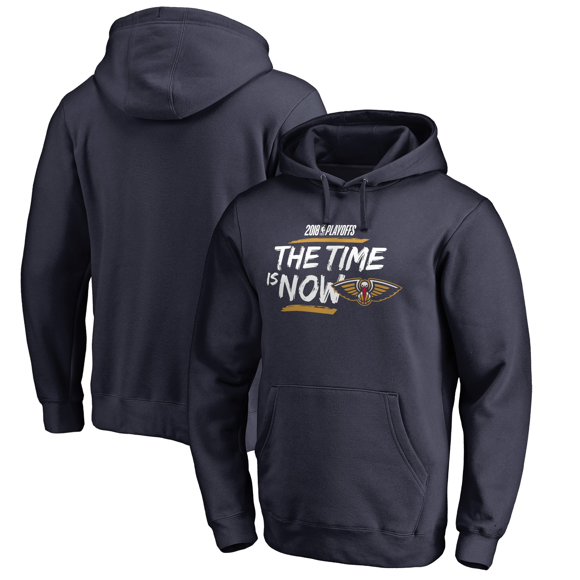 New Orleans Pelicans Fanatics Branded 2018 NBA Playoffs Bet Slogan Pullover Hoodie - Navy