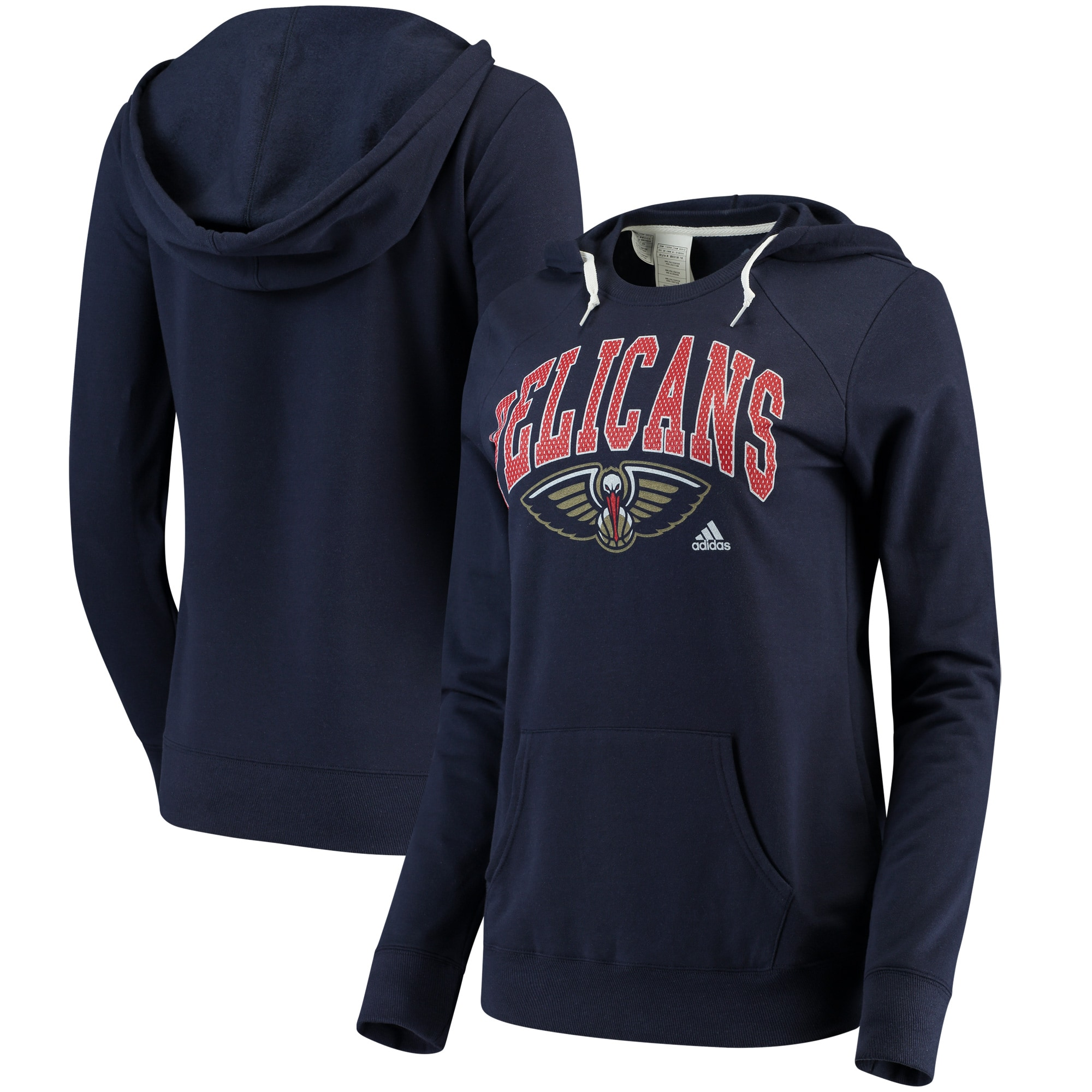 New Orleans Pelicans adidas Women's Outline Big Arch Hoodie - Navy