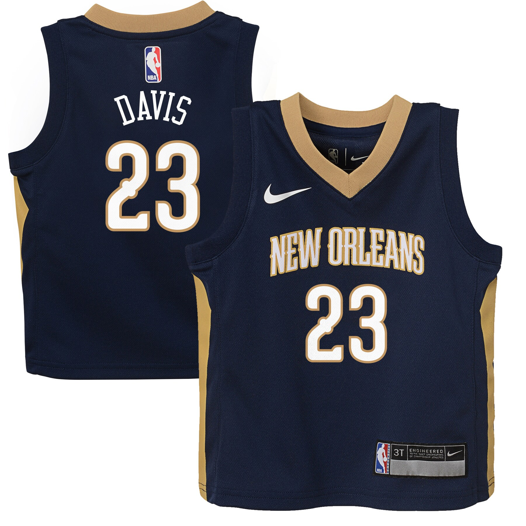Anthony Davis New Orleans Pelicans Nike Toddler Replica Jersey Navy - Icon Edition
