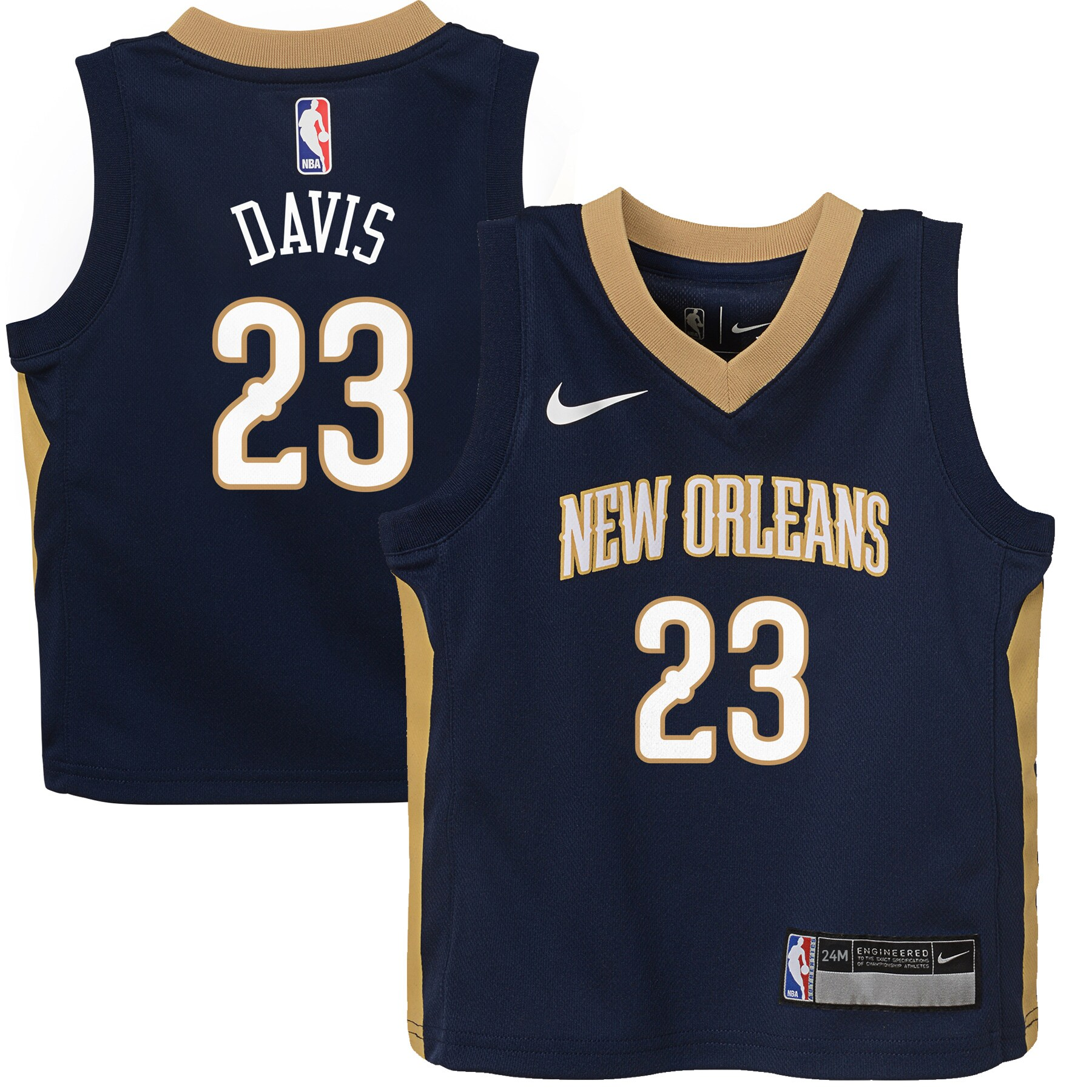 Anthony Davis New Orleans Pelicans Nike Infant Replica Jersey Navy - Icon Edition