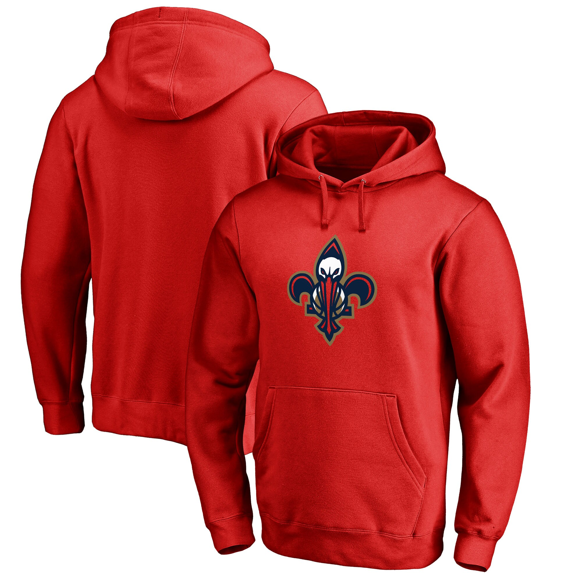 New Orleans Pelicans Fanatics Branded Alternate Logo Pullover Hoodie - Red
