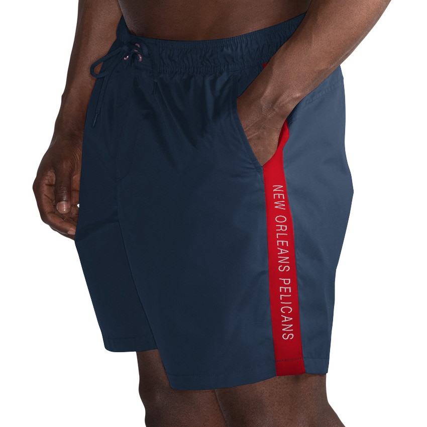 New Orleans Pelicans G-III Sports by Carl Banks Volley Swim Trunks - Navy/Gold