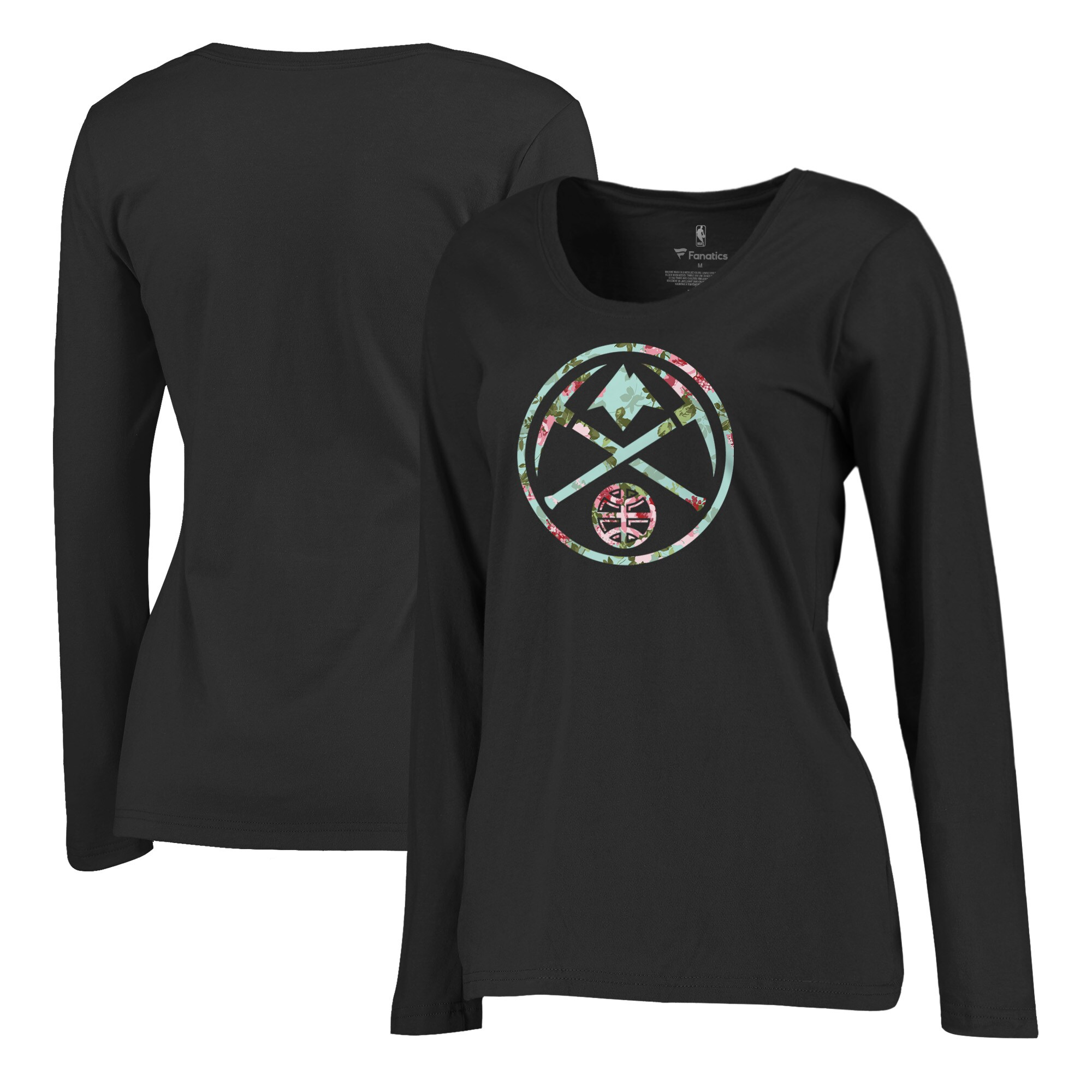 Denver Nuggets Fanatics Branded Women's Lovely Plus Size Long Sleeve V-Neck T-Shirt - Black