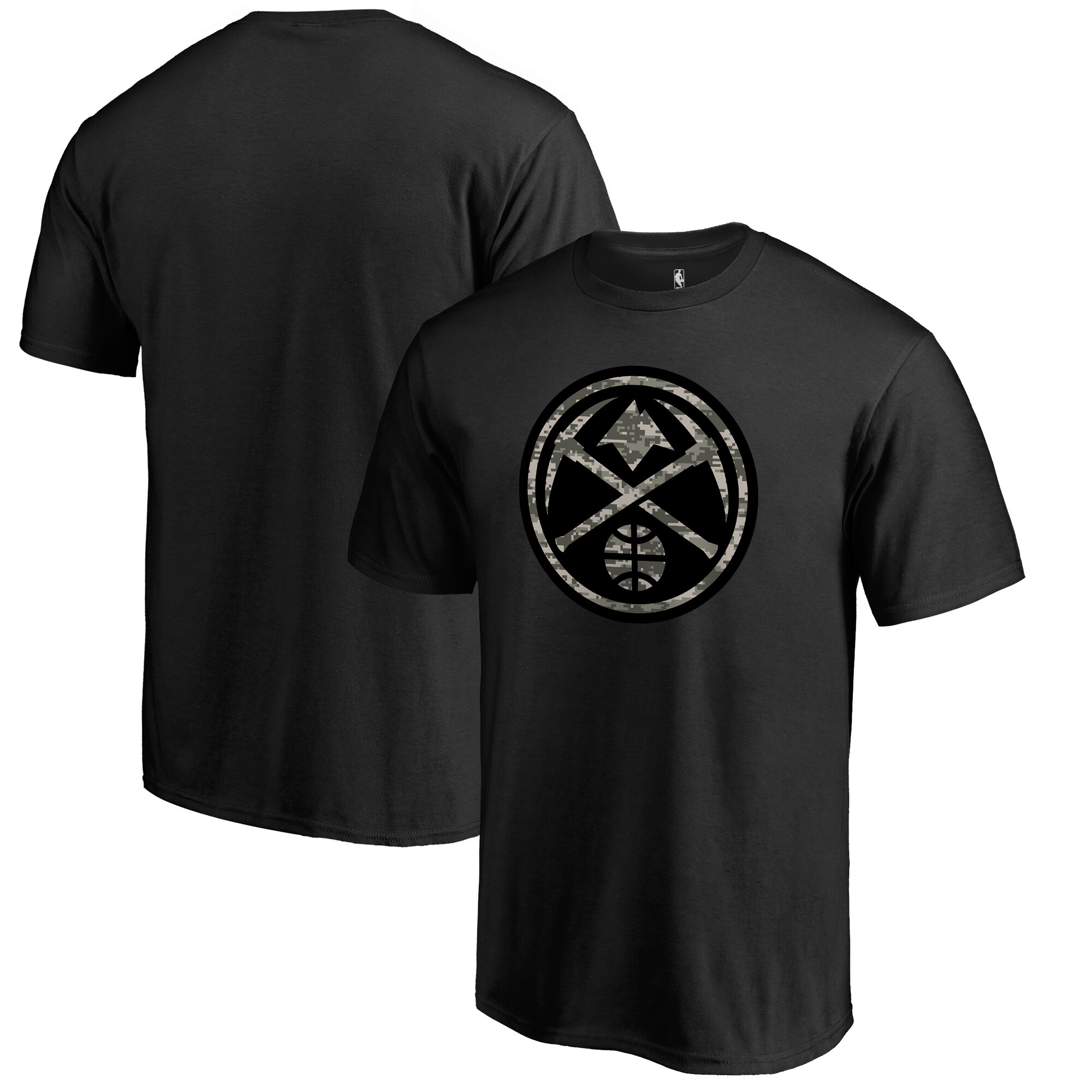 Denver Nuggets Fanatics Branded Camo Collection Cloak T-Shirt - Black