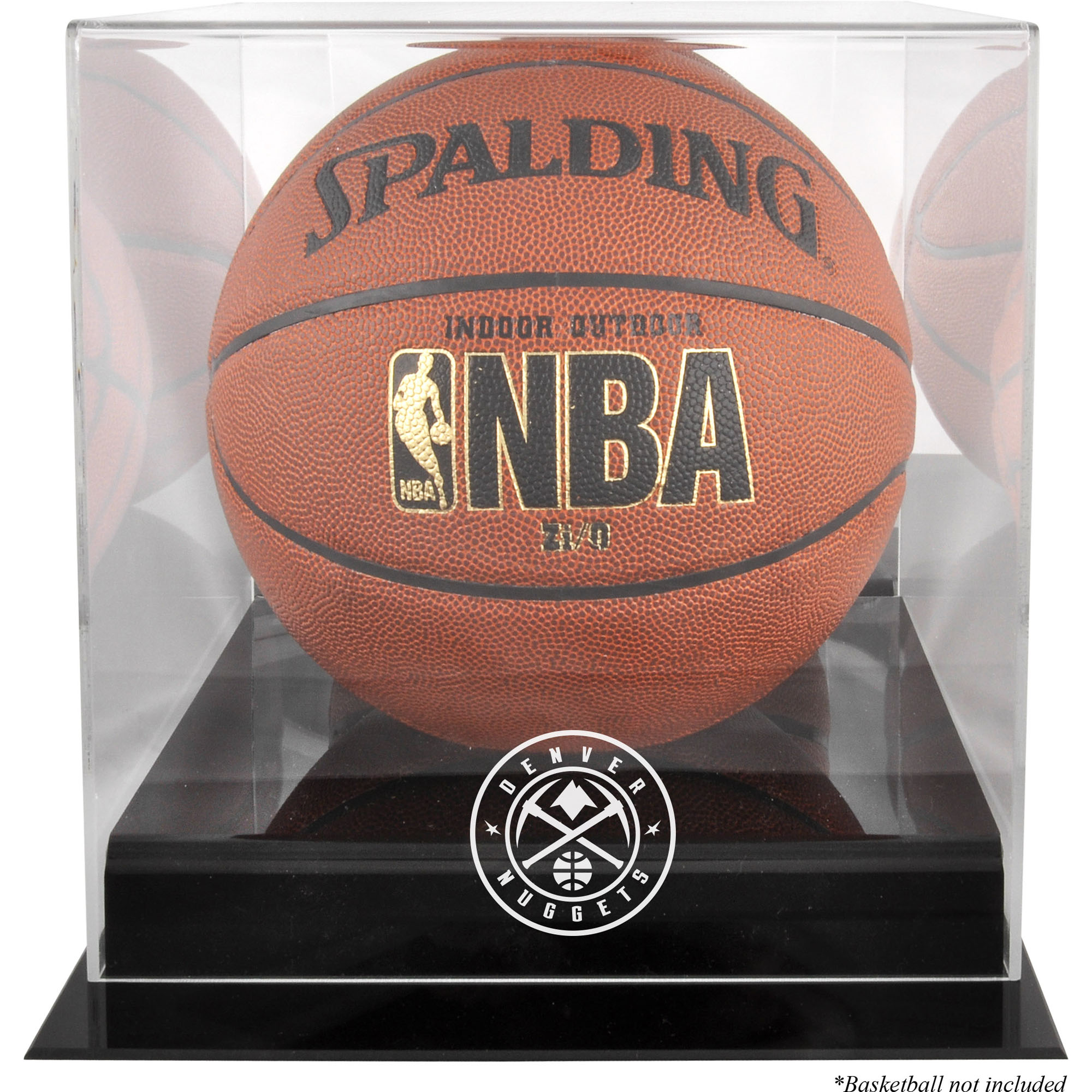 Denver Nuggets Fanatics Authentic Black Base Team Logo Basketball Display Case with Mirrored Back