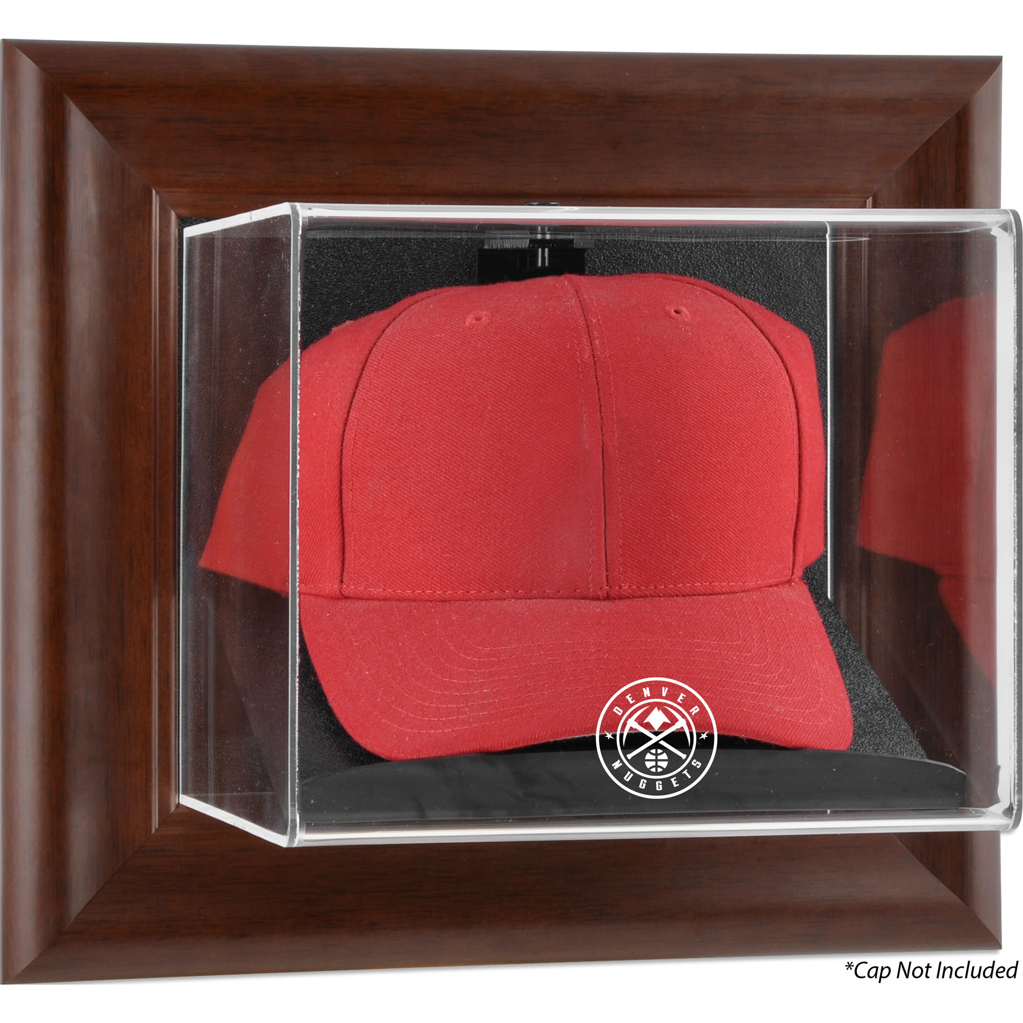 Denver Nuggets Fanatics Authentic Framed Team Logo Brown Wall-Mountable Cap Display Case