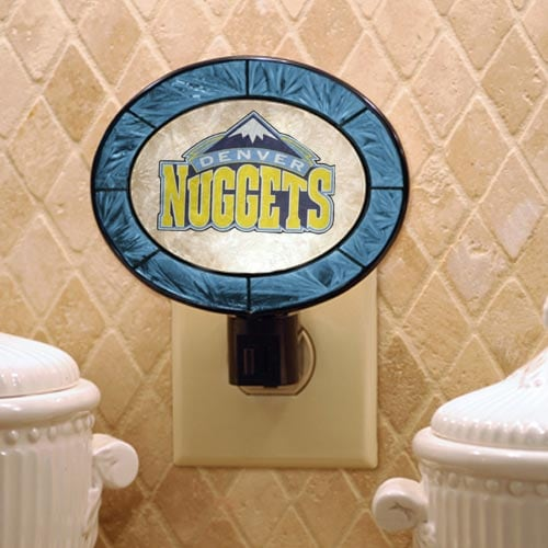 Denver Nuggets Hand-Painted Glass Nightlight