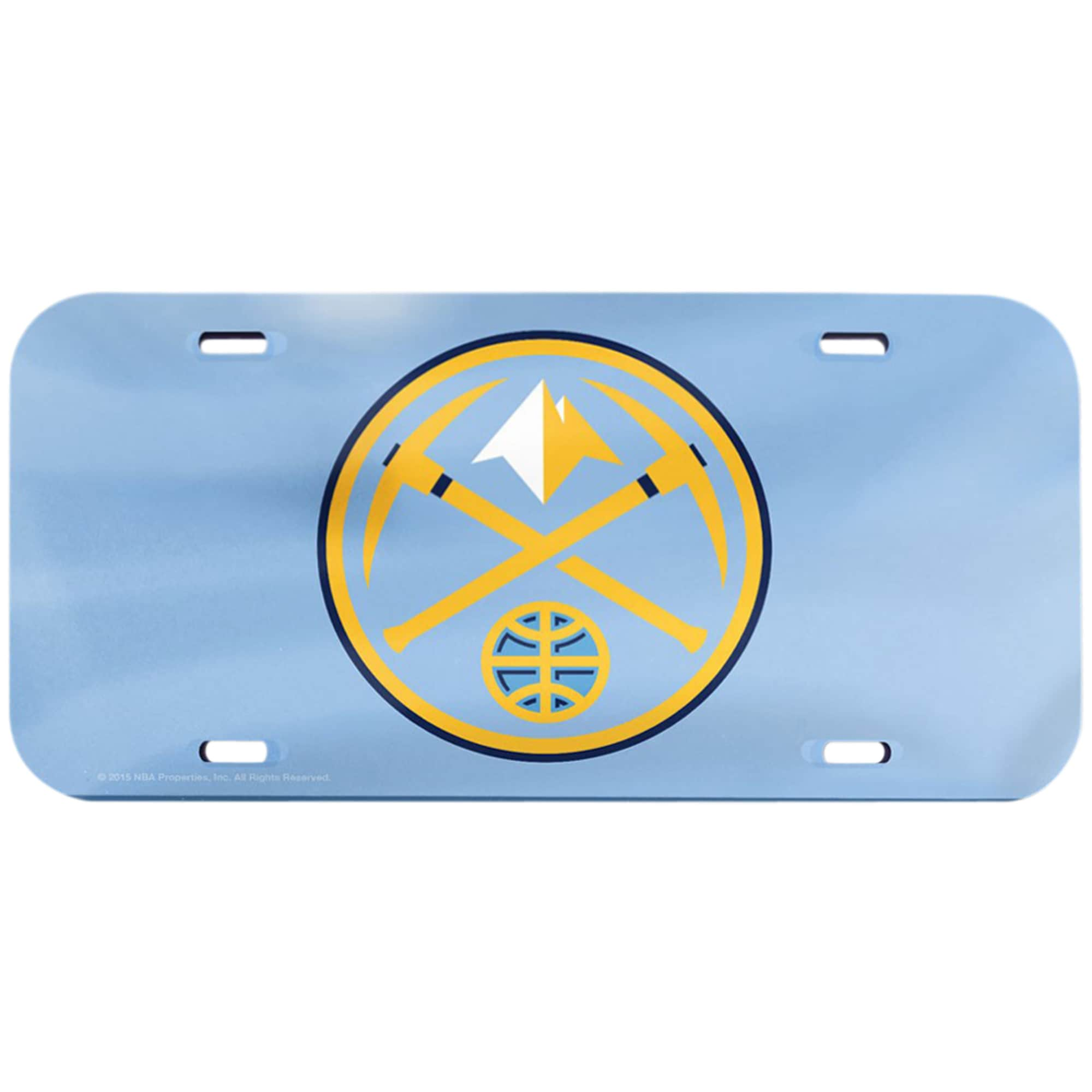 Denver Nuggets WinCraft Crystal Mirror License Plate