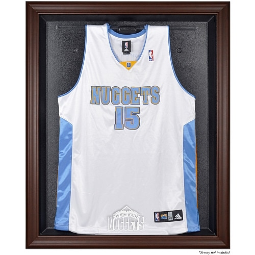 Denver Nuggets Fanatics Authentic Hardwood Classics 1993 - 2018 Brown Framed Jersey Display Case