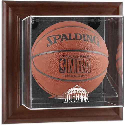 Denver Nuggets Fanatics Authentic Hardwood Classics 1993 - 2018 Brown Framed Wall-Mounted Team Logo Basketball Display Case