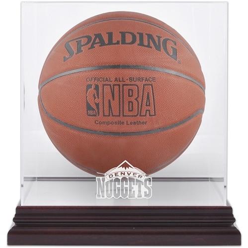 Denver Nuggets Fanatics Authentic Hardwood Classics 1993 - 2018 Mahogany Team Logo Basketball Display Case with Mirrored Back