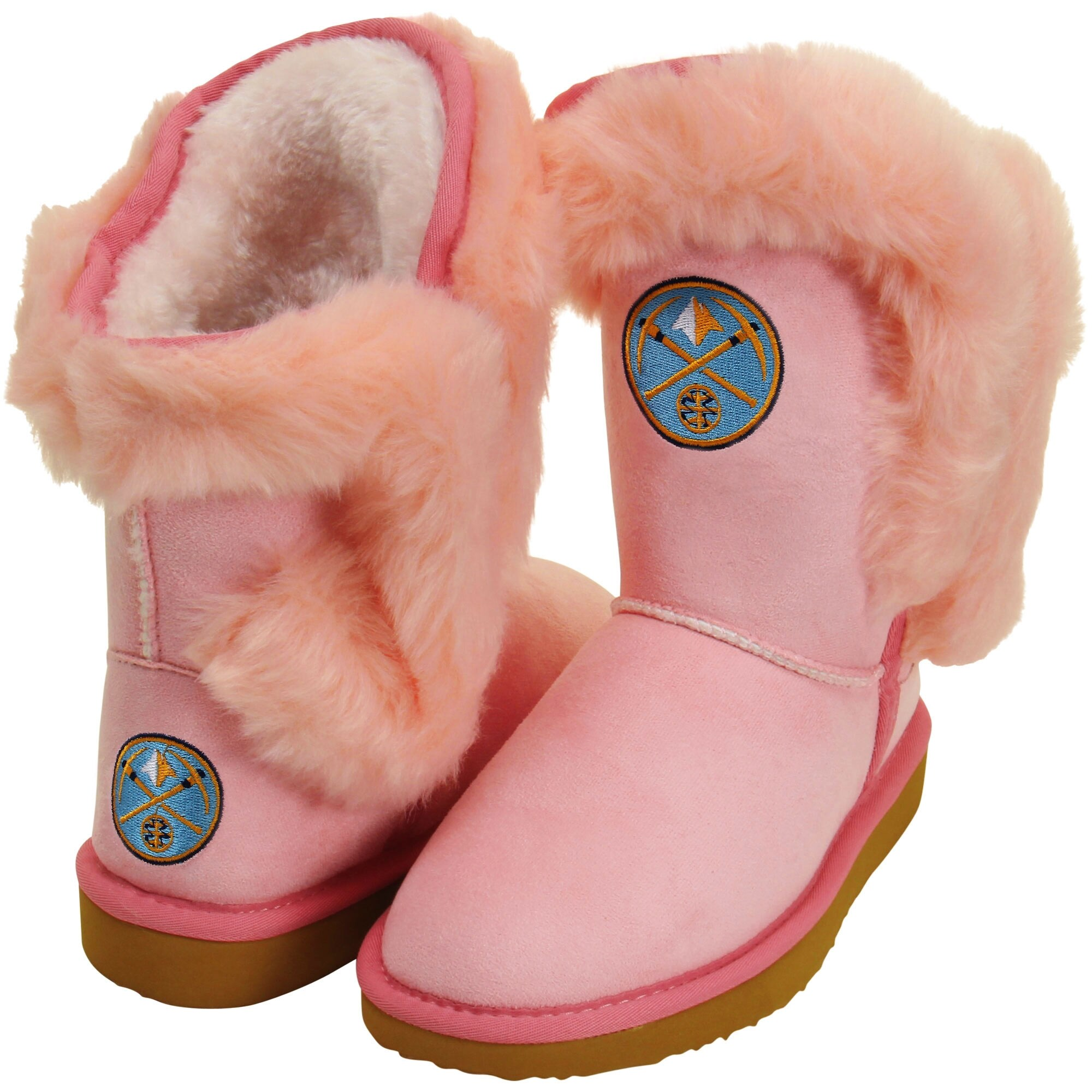 Cuce Denver Nuggets Youth Girls Mini-Me Fanatic Boots - Pink