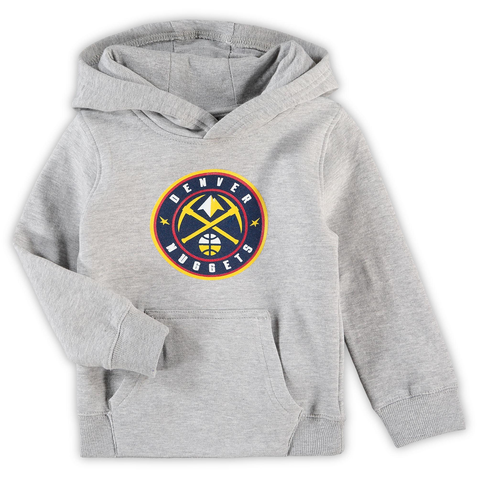 Denver Nuggets Preschool Primary Team Logo Pullover Hoodie - Heathered Gray
