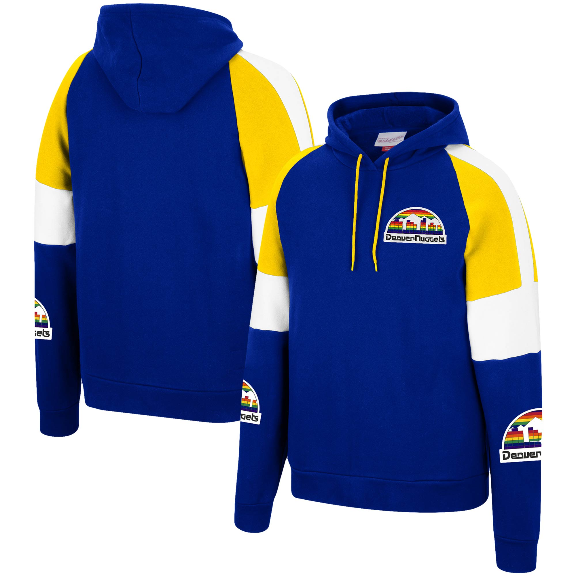 Denver Nuggets Mitchell & Ness Hardwood Classics Instant Replay Pullover Hoodie - Royal