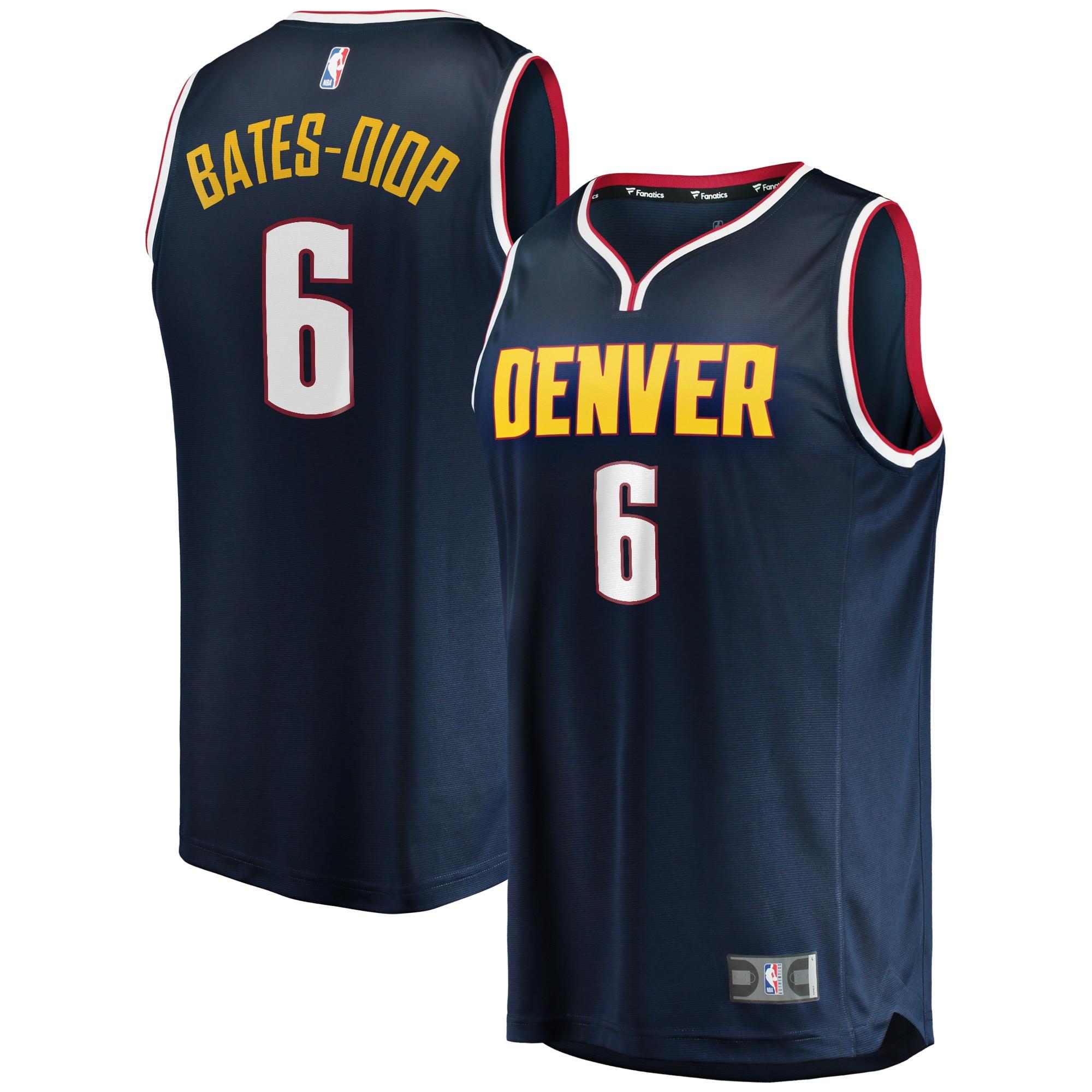 Keita Bates-Diop Denver Nuggets Fanatics Branded Fast Break Player Jersey - Icon Edition - Navy
