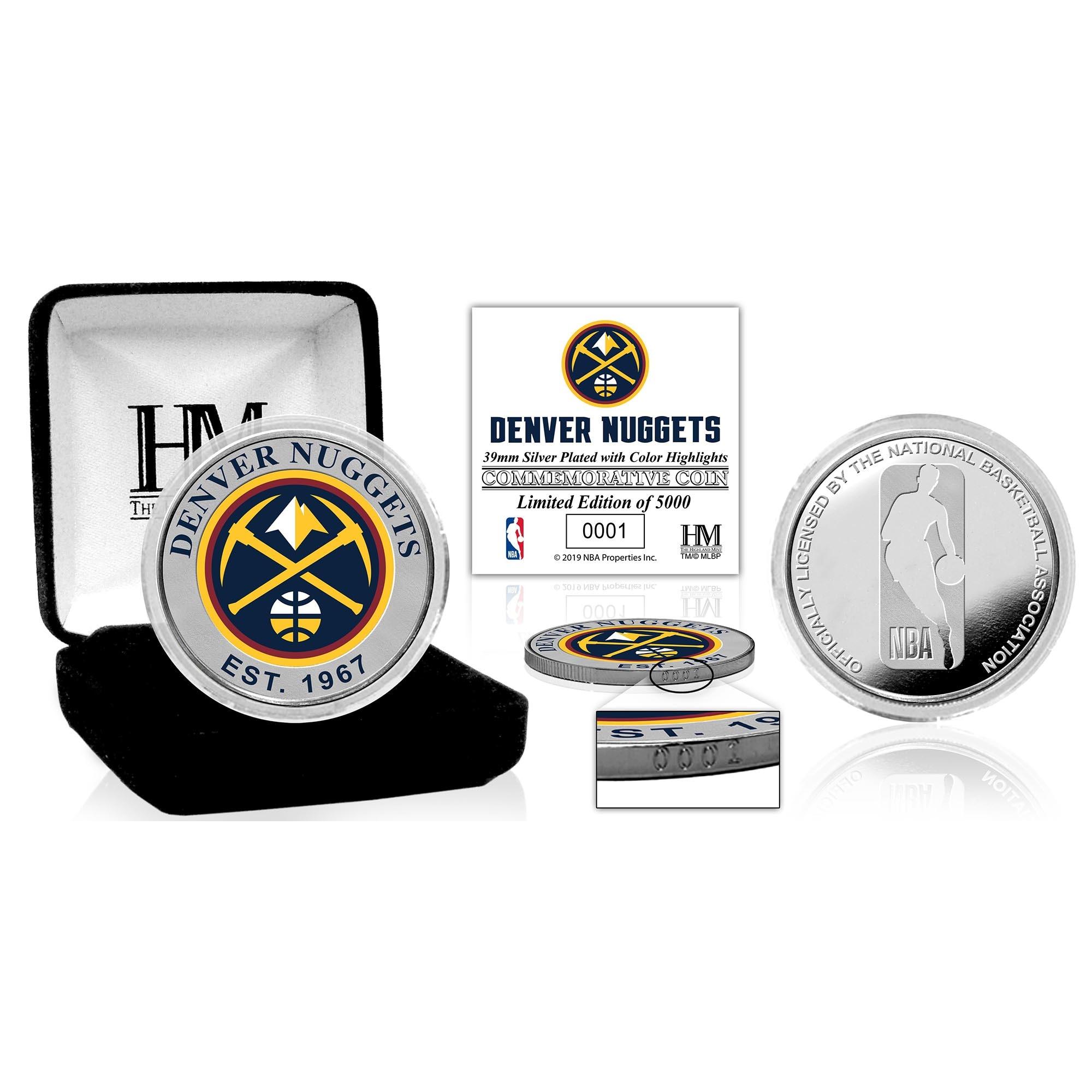 Denver Nuggets Highland Mint Color Silver Coin