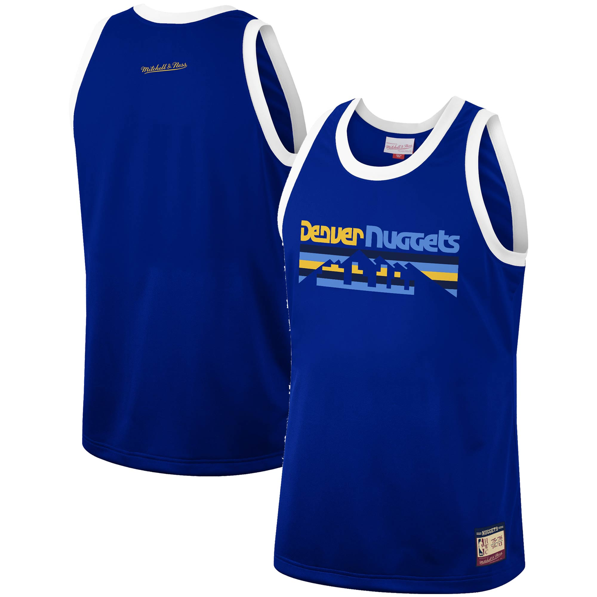 Denver Nuggets Mitchell & Ness Hardwood Classics Team Heritage Fashion Jersey - Royal