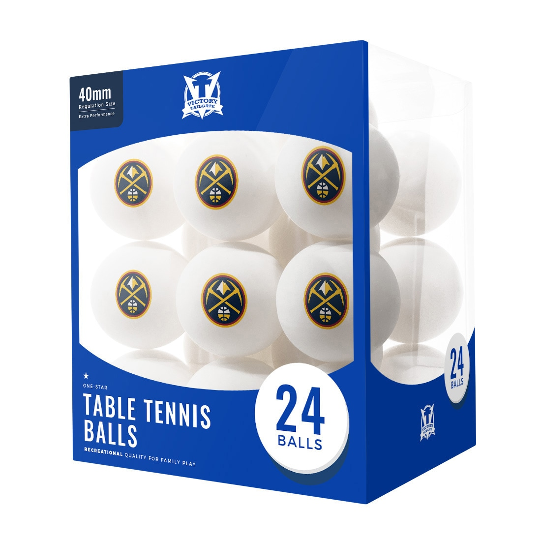 Denver Nuggets 24-Count Logo Table Tennis Balls