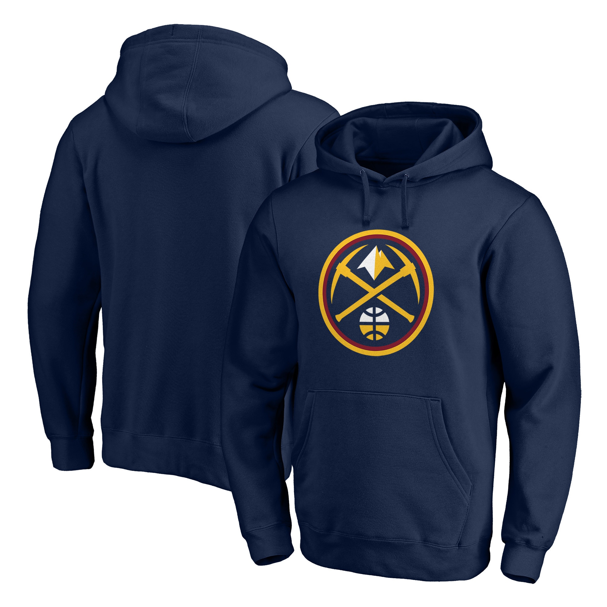 Denver Nuggets Fanatics Branded Primary Team Logo Pullover Hoodie - Navy