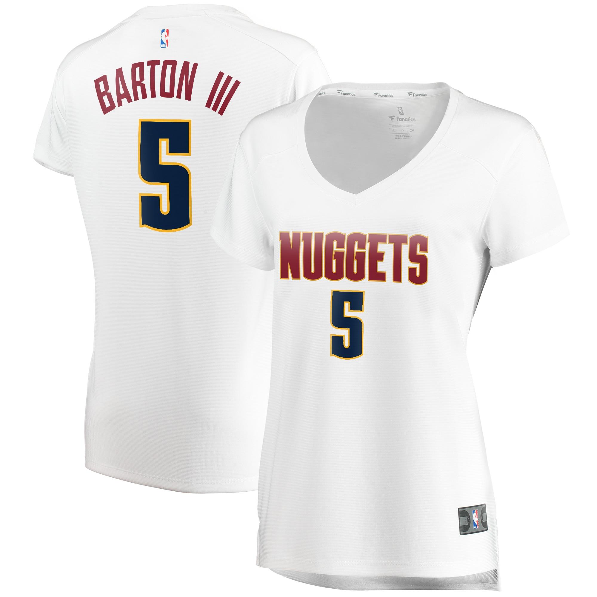 Will Barton Denver Nuggets Fanatics Branded Women's Fast Break Player Jersey - Association Edition - White