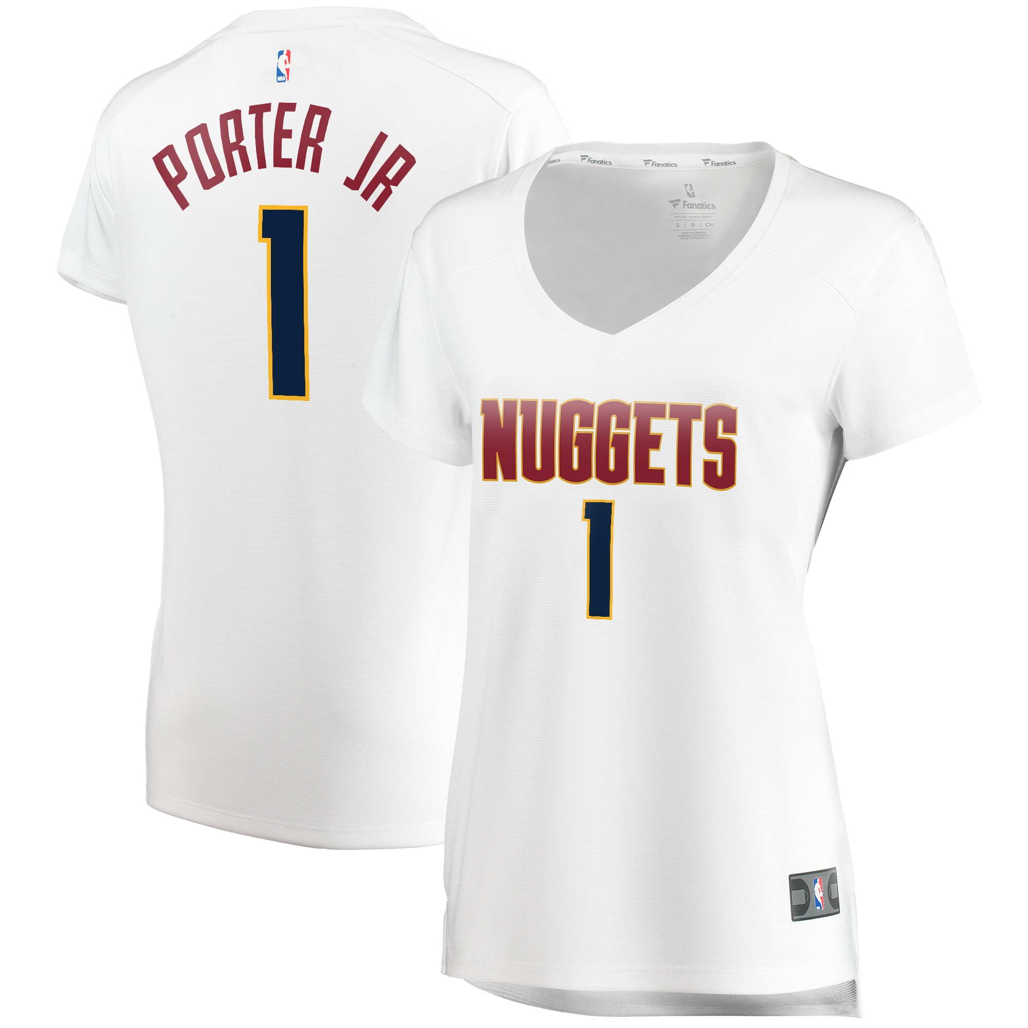 Michael Porter Jr. Denver Nuggets Fanatics Branded Women's Fast Break Player Jersey - Association Edition - White