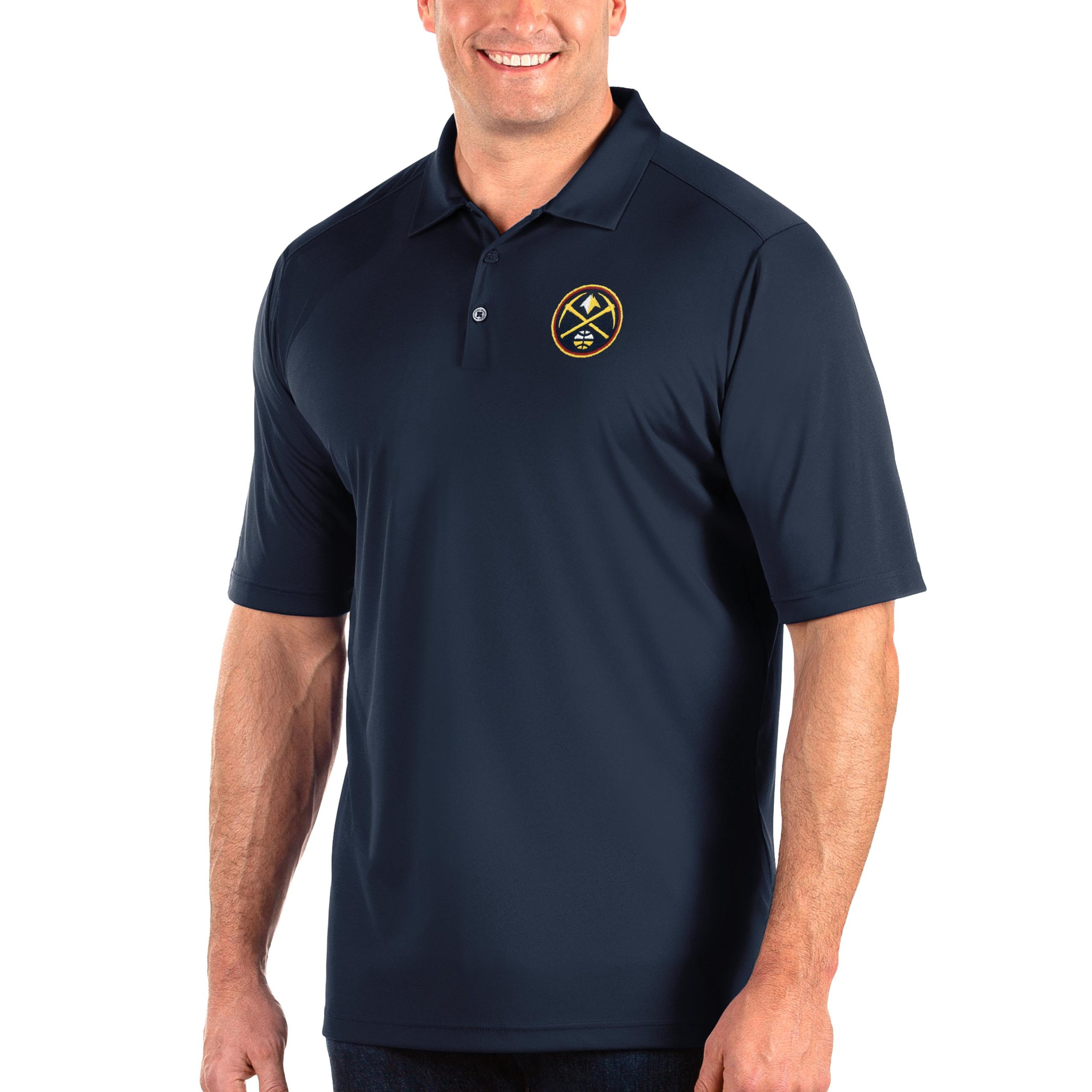 Denver Nuggets Antigua Big & Tall Tribute Polo - Navy
