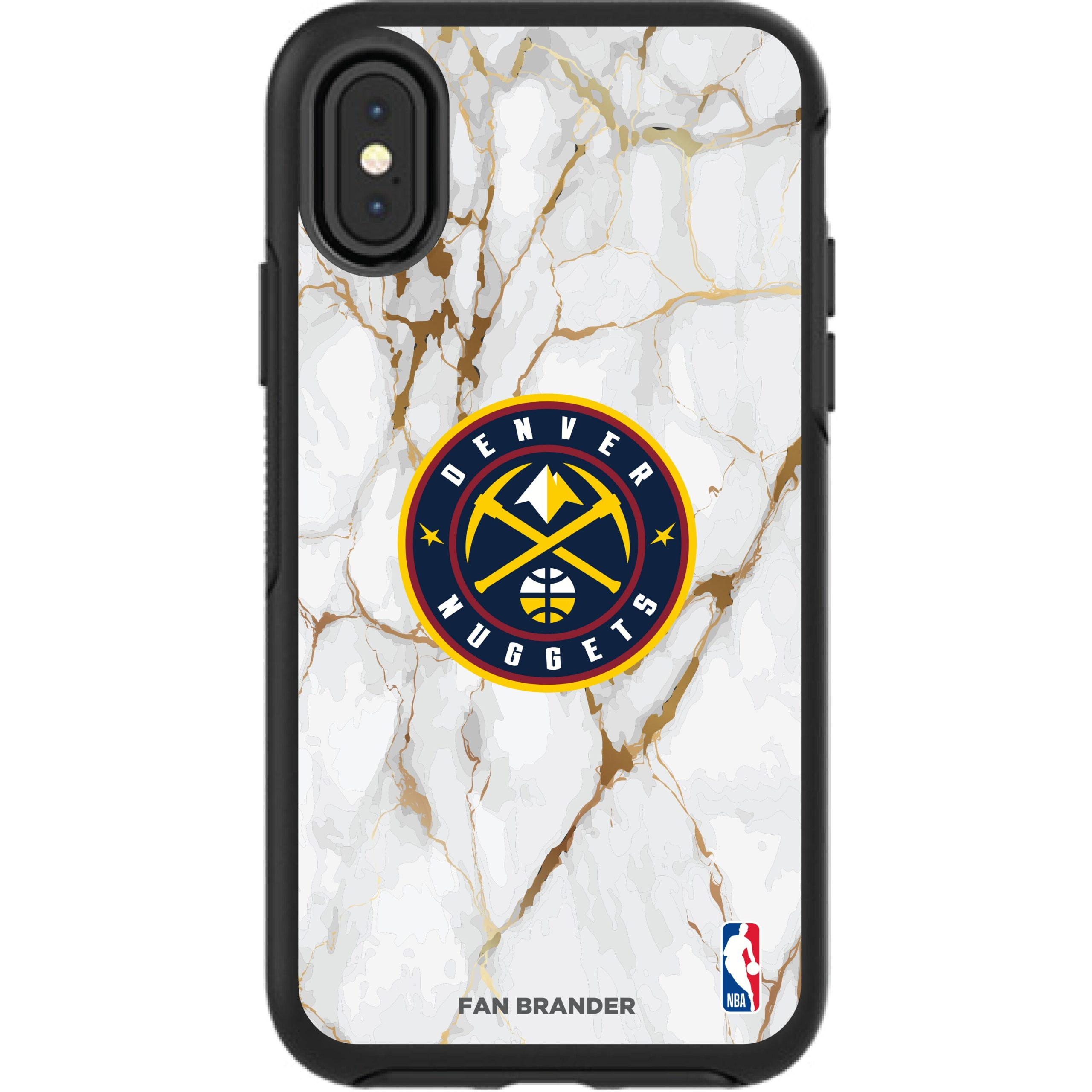 Denver Nuggets iPhone Symmetry Marble Case - Black
