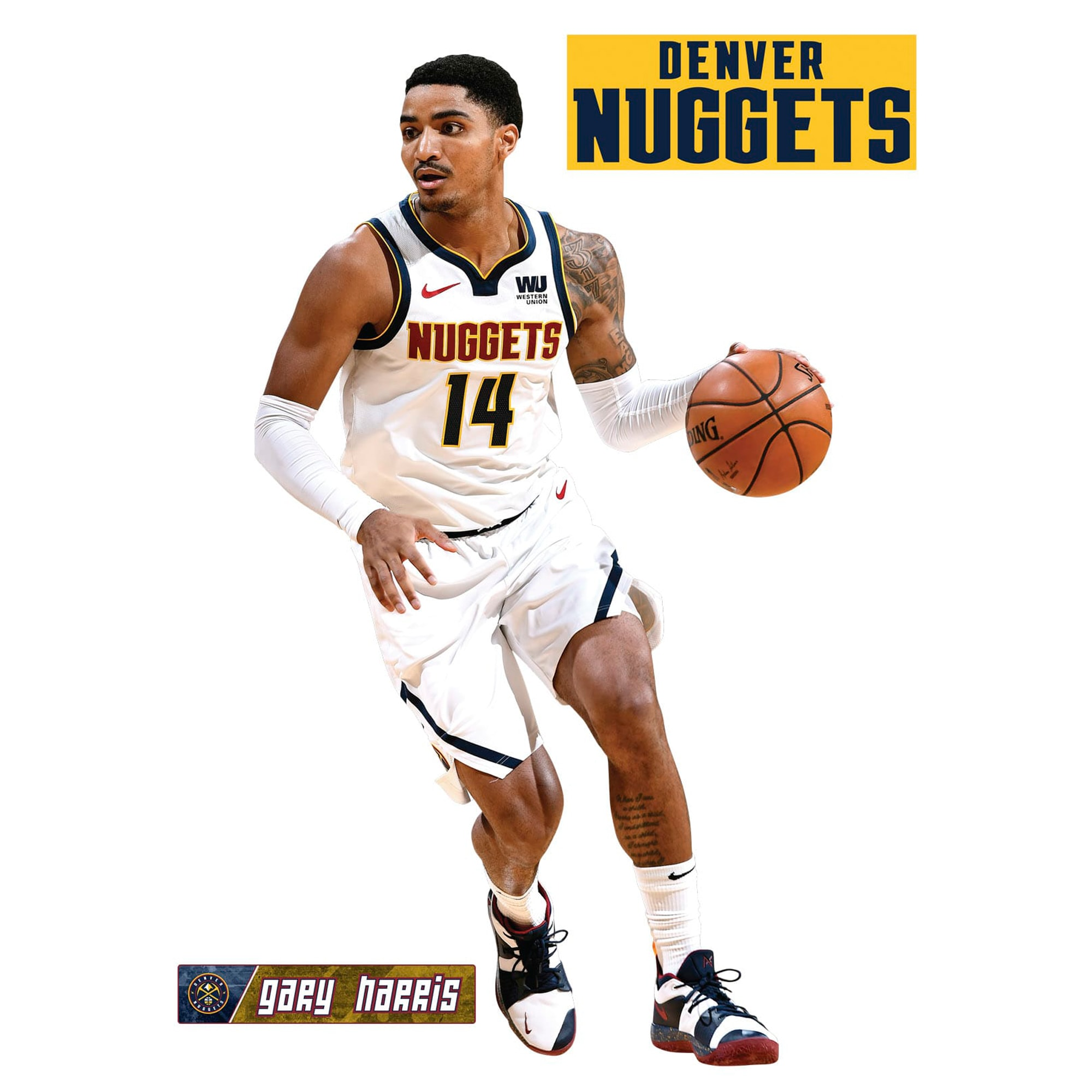 Gary Harris Denver Nuggets Fathead 3-Pack Life-Size Removable Wall Decal
