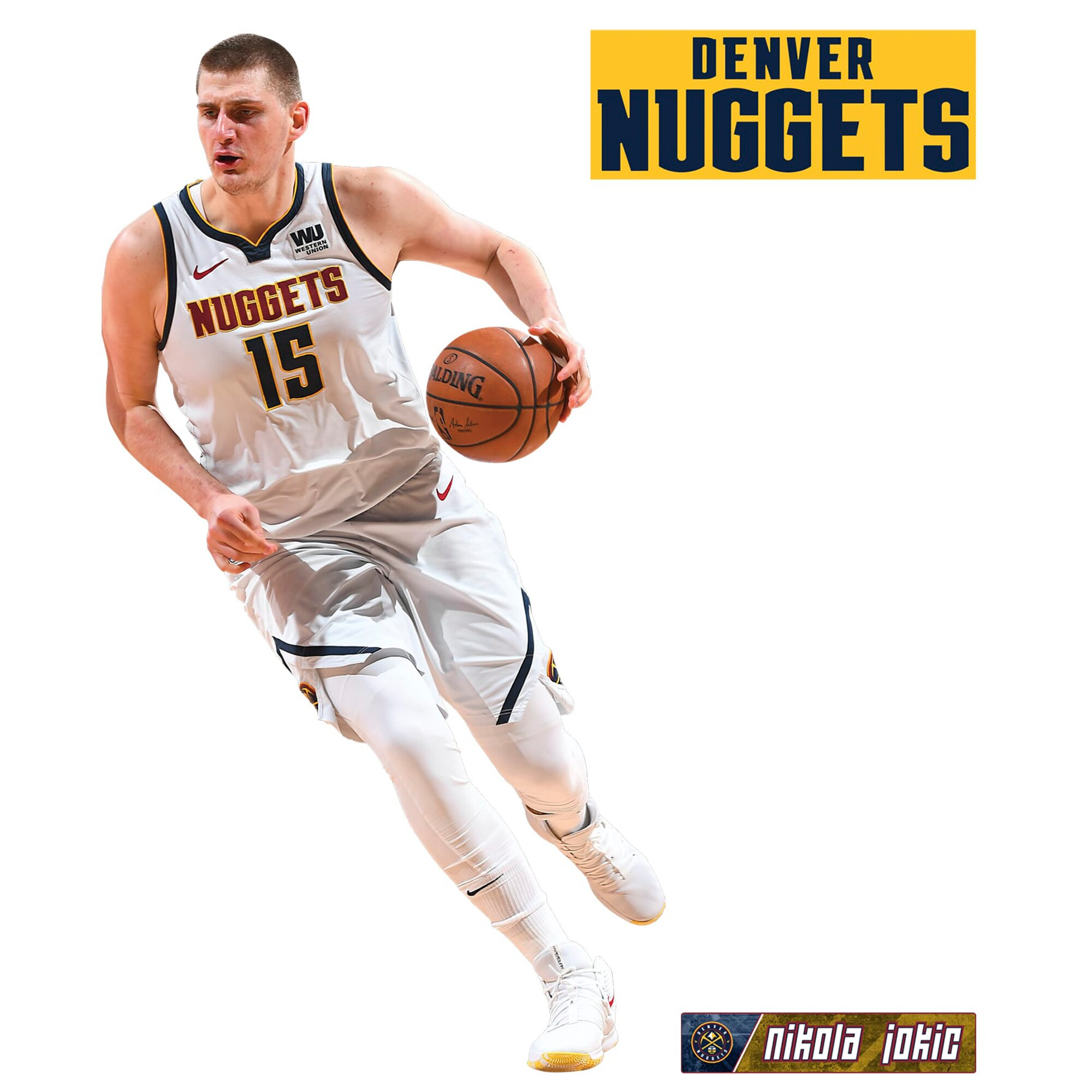 Nikola Jokic Denver Nuggets Fathead 3-Pack Life-Size Removable Wall Decal