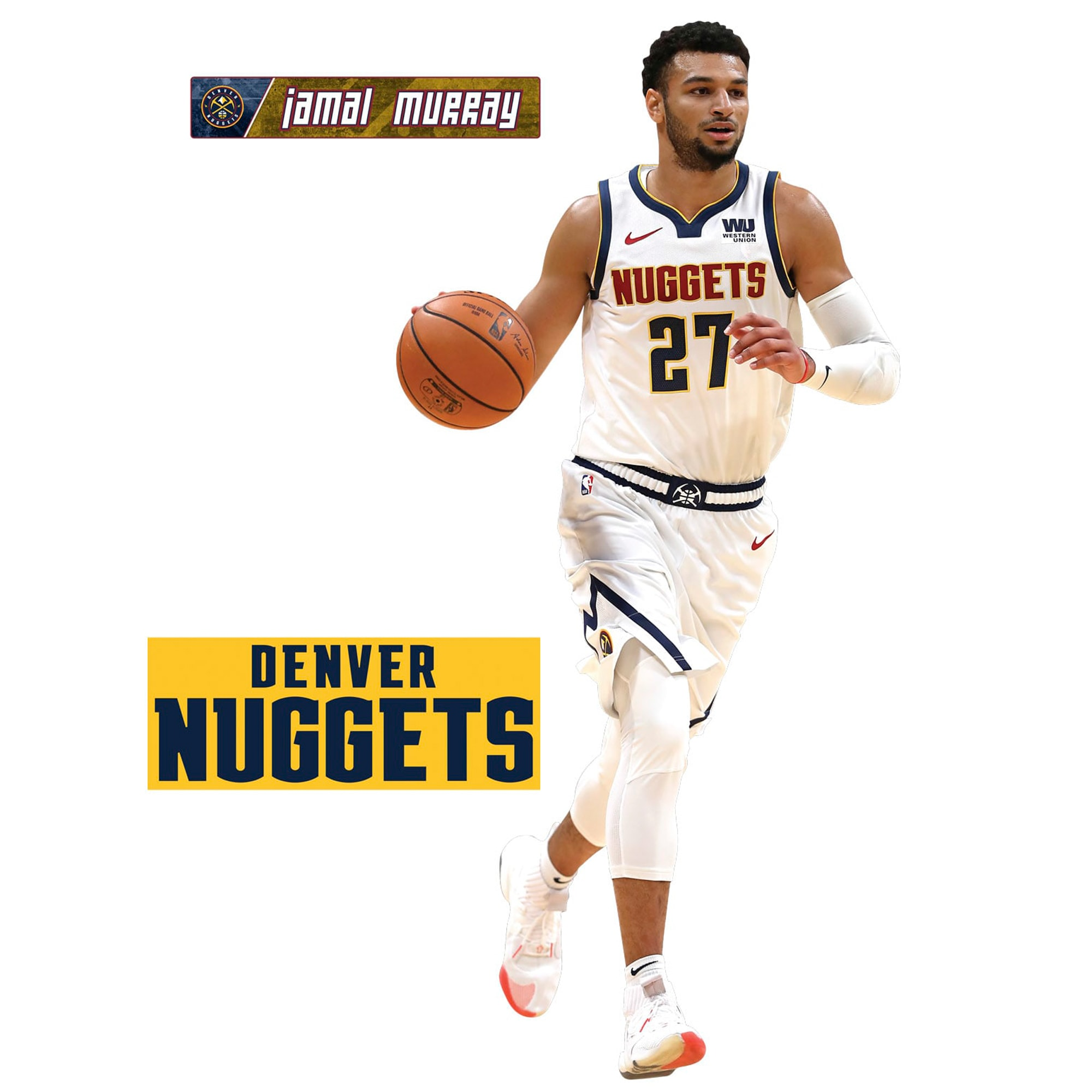 Jamal Murray Denver Nuggets Fathead 3-Pack Life-Size Removable Wall Decal