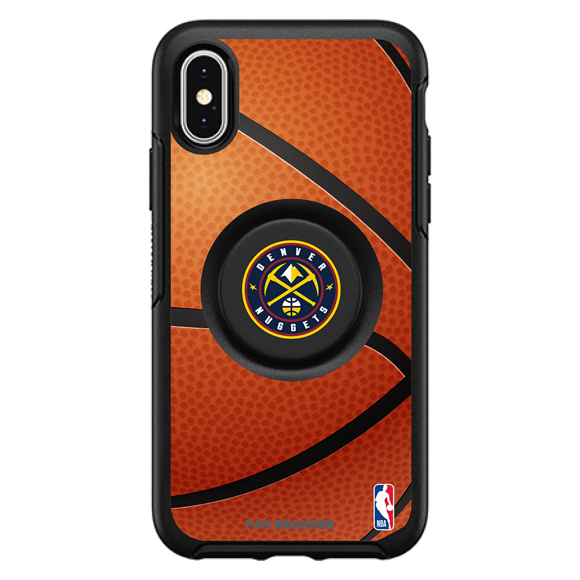 Denver Nuggets OtterBox Primary Otter+Pop PopGrip Symmetry iPhone Case - Black
