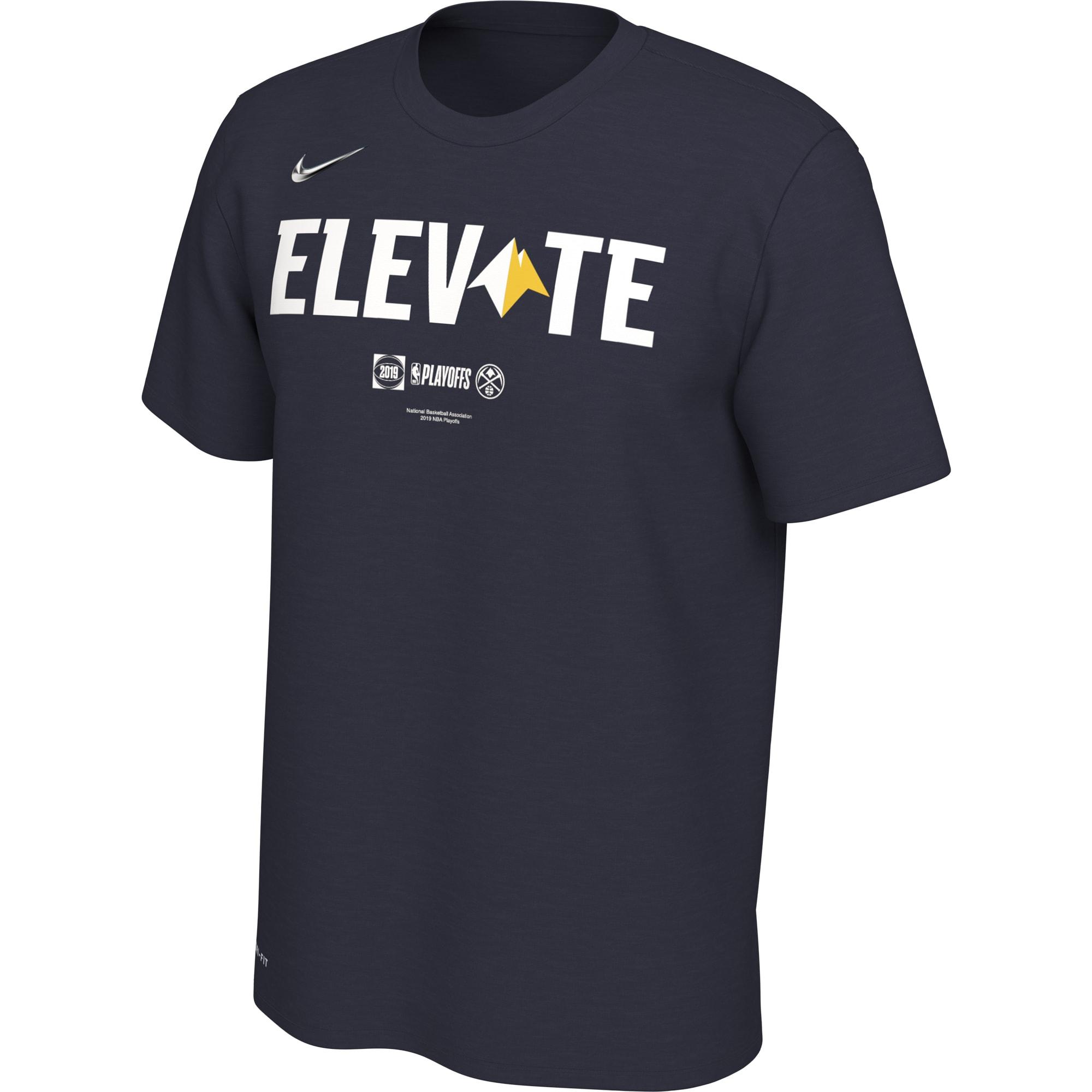Denver Nuggets Nike 2019 NBA Playoffs Bound Team Mantra Dri-FIT T-Shirt - Navy