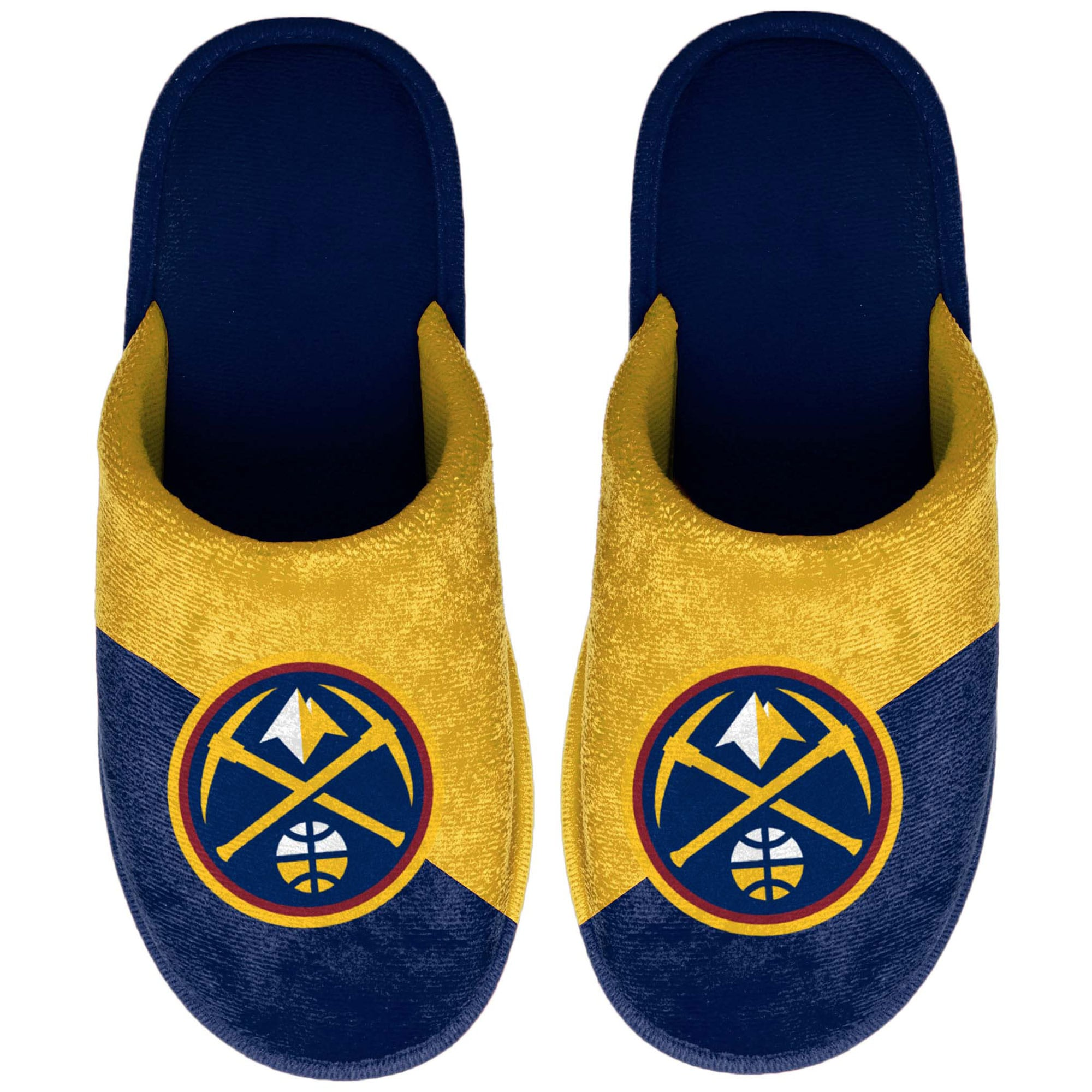Denver Nuggets Youth Big Logo Scuff Slippers