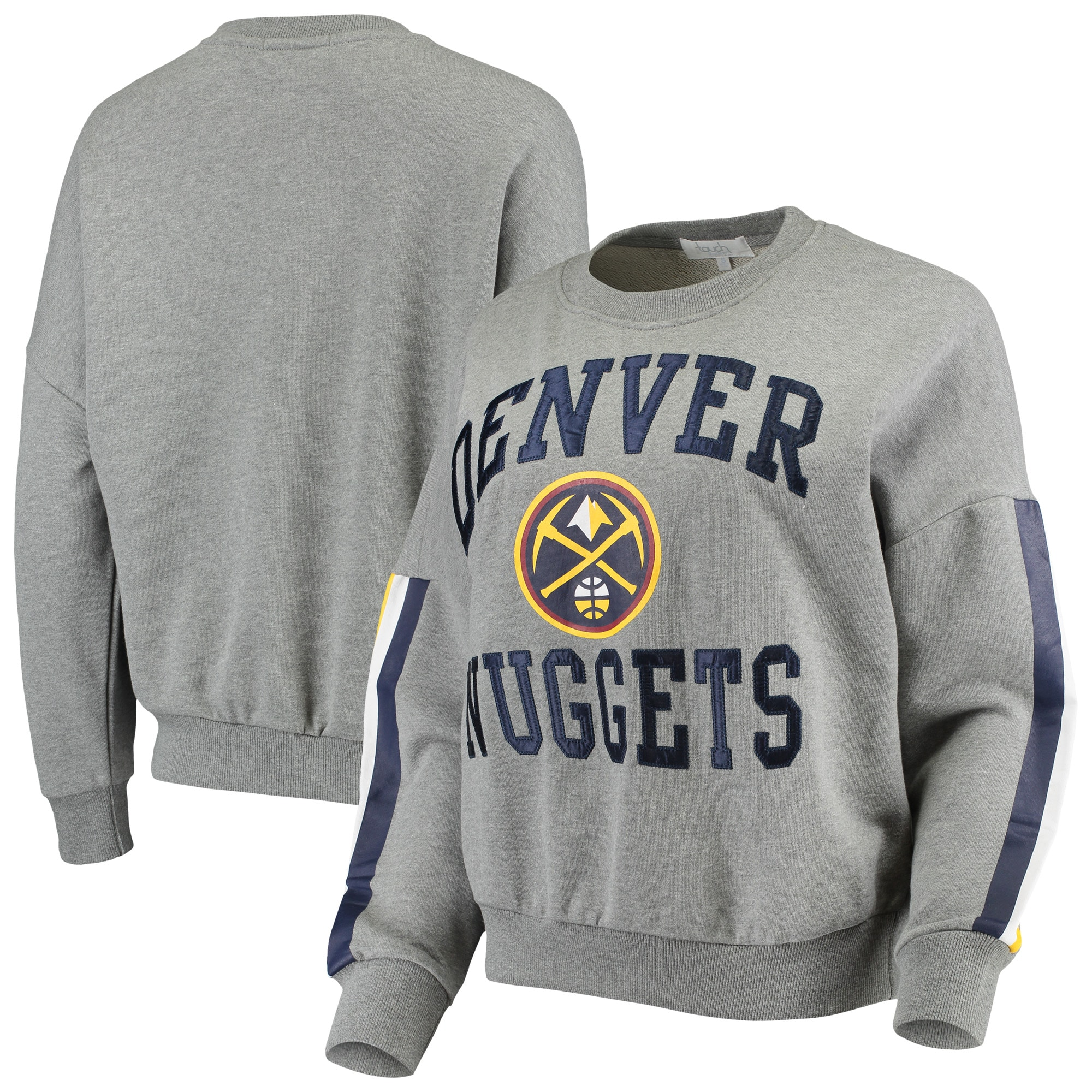 Denver Nuggets G-III 4Her by Carl Banks Women's Slouchy Rookie French Terry Pullover Sweatshirt - Gray