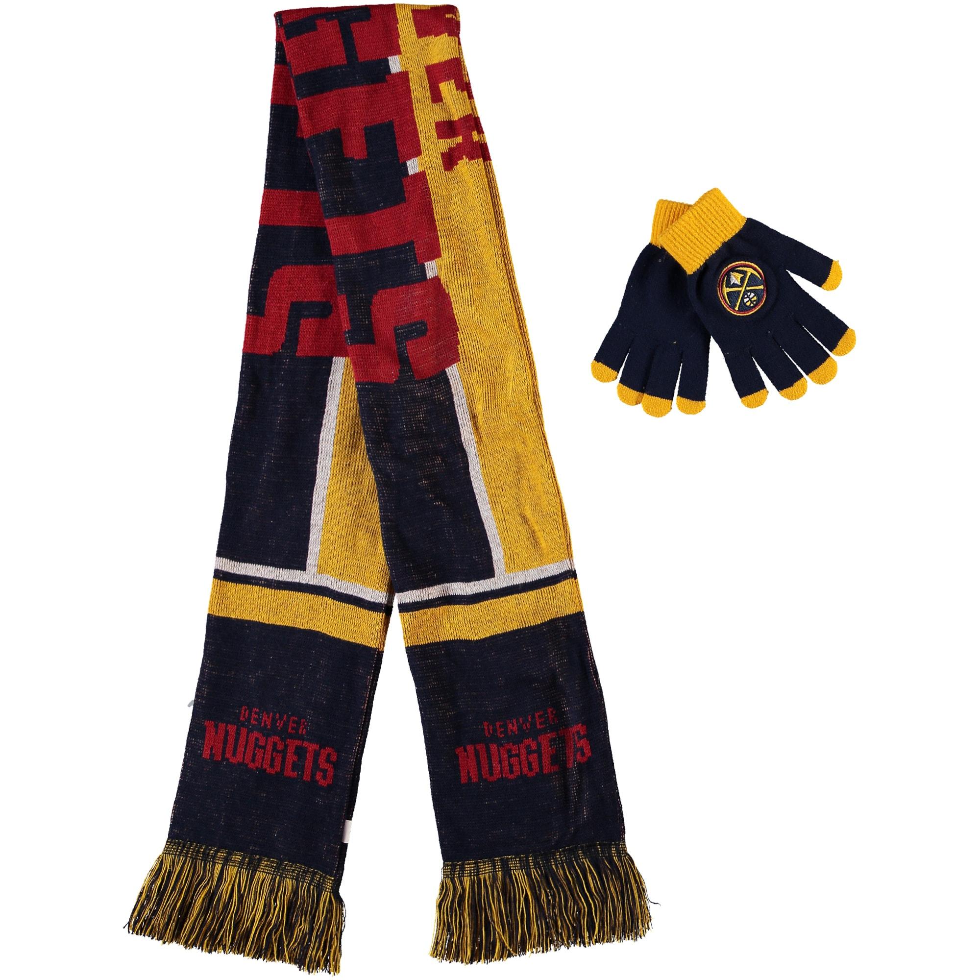 Denver Nuggets Hol Gloves & Scarf Set