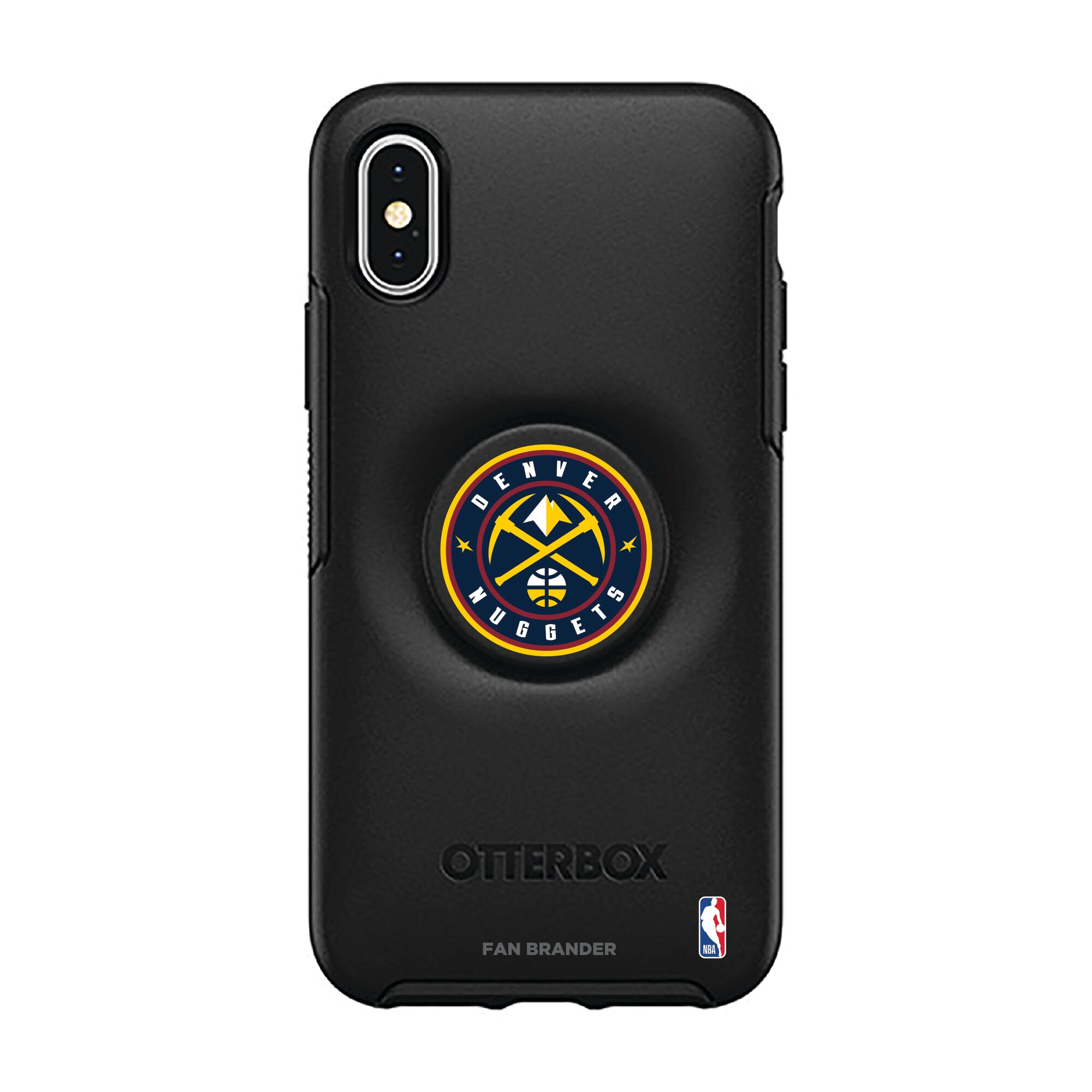 Denver Nuggets OtterBox Otter + Pop Symmetry Series iPhone Case with Integrated PopSockets PopGrip