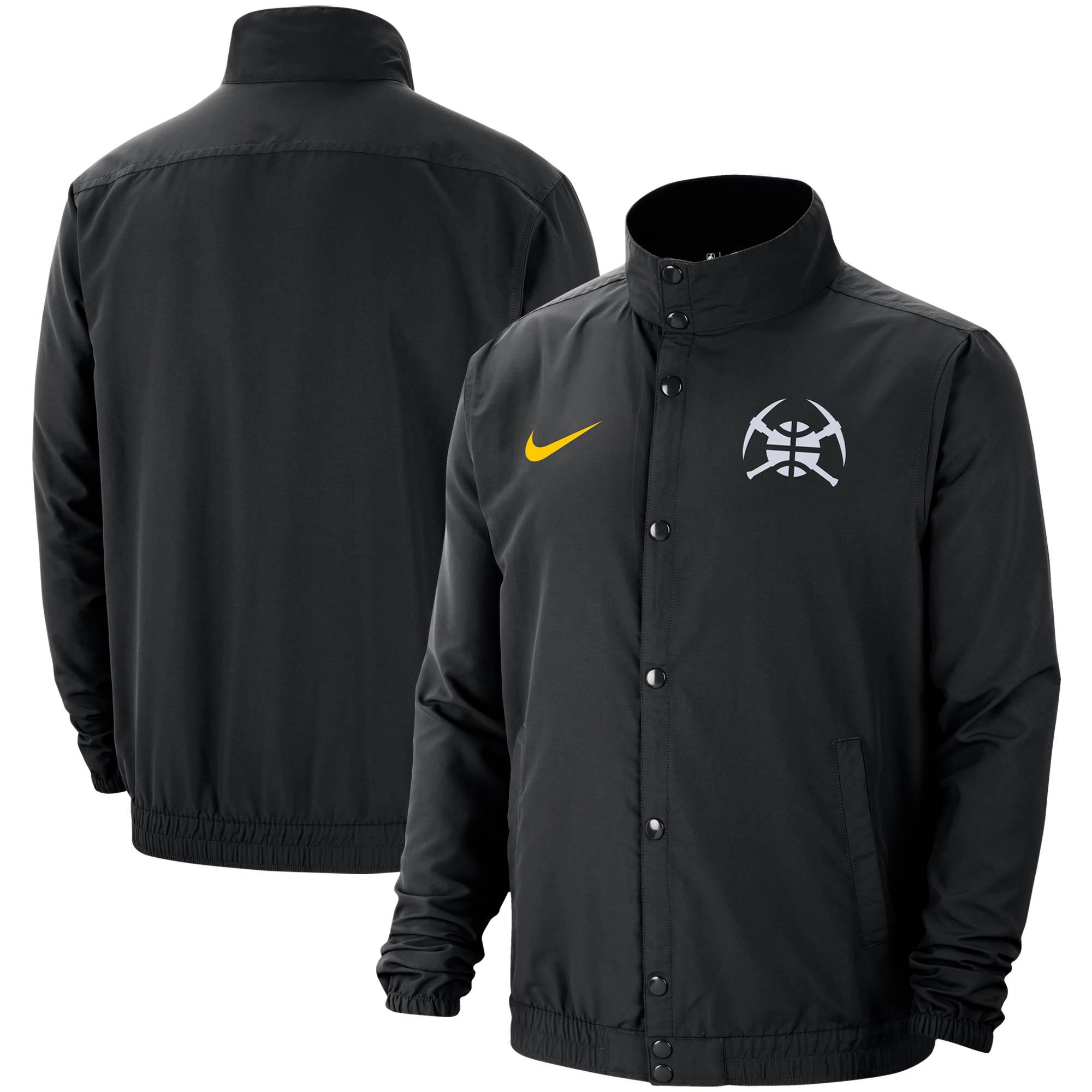 Denver Nuggets Nike City Edition Lightweight DNA Full-Snap Jacket - Black