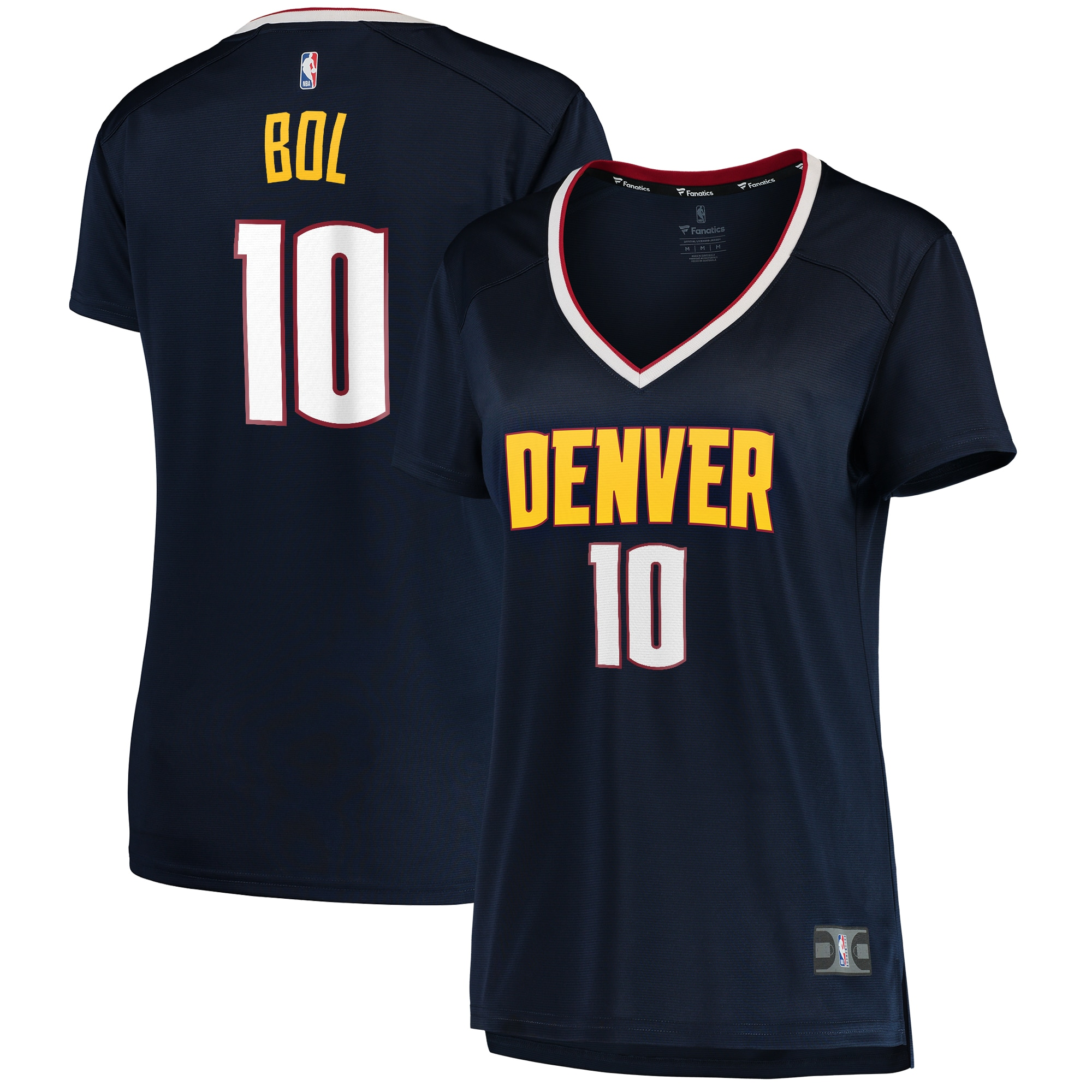 Bol Bol Denver Nuggets Fanatics Branded Women's Fast Break Replica Jersey Navy - Icon Edition