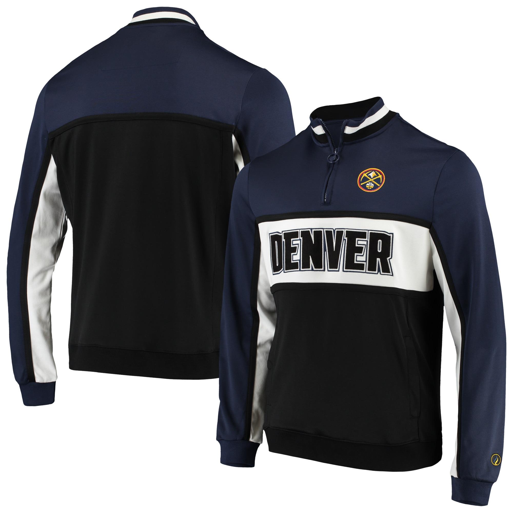 Denver Nuggets FISLL Interlock Quarter-Zip Jacket - Navy/Black