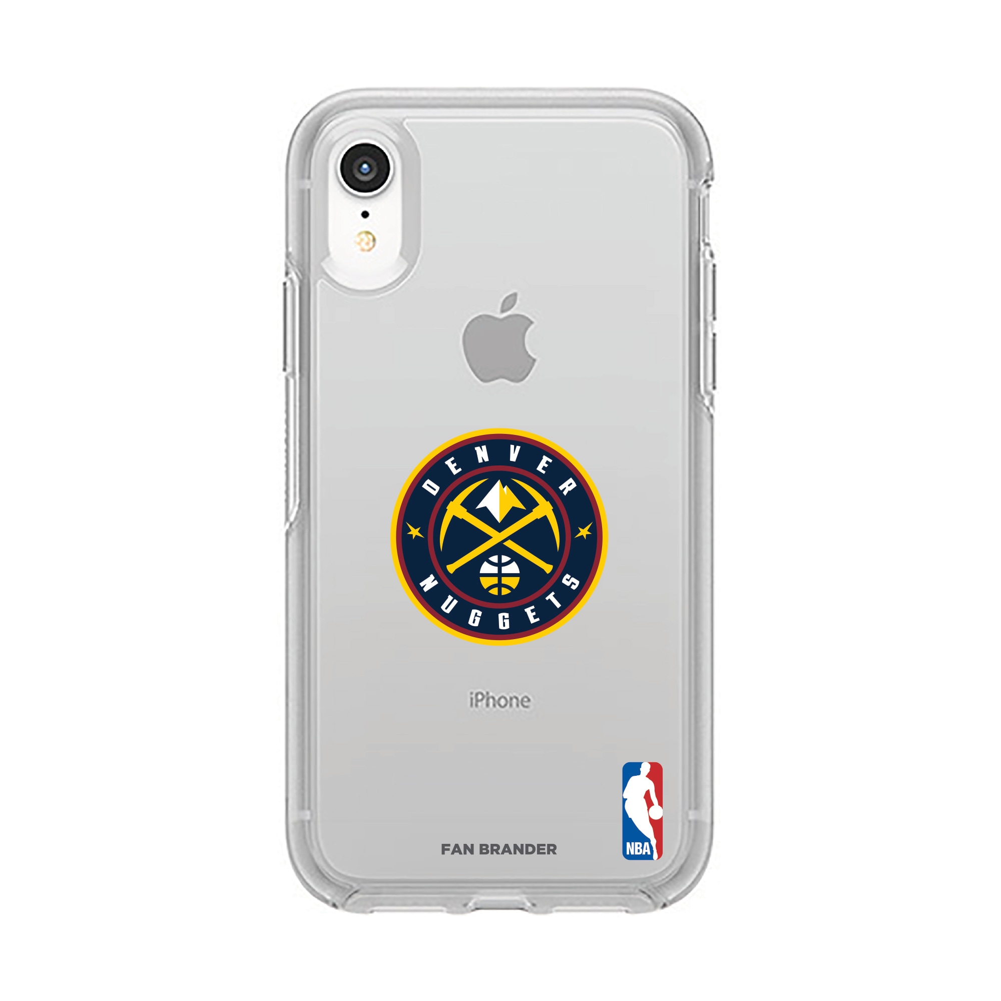 Denver Nuggets OtterBox Clear Primary Logo iPhone Case