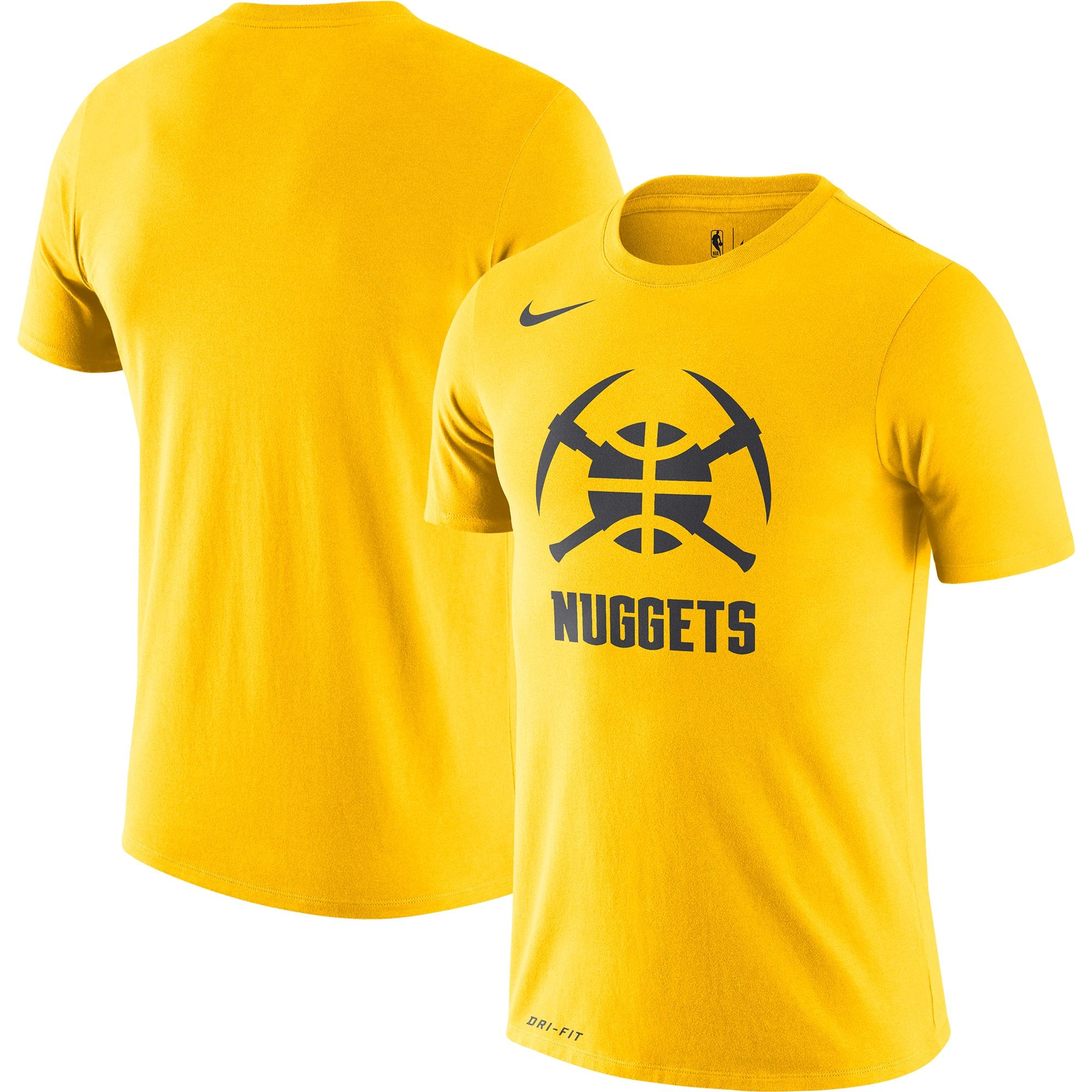 Denver Nuggets Nike City Edition Logo Performance T-Shirt - Yellow